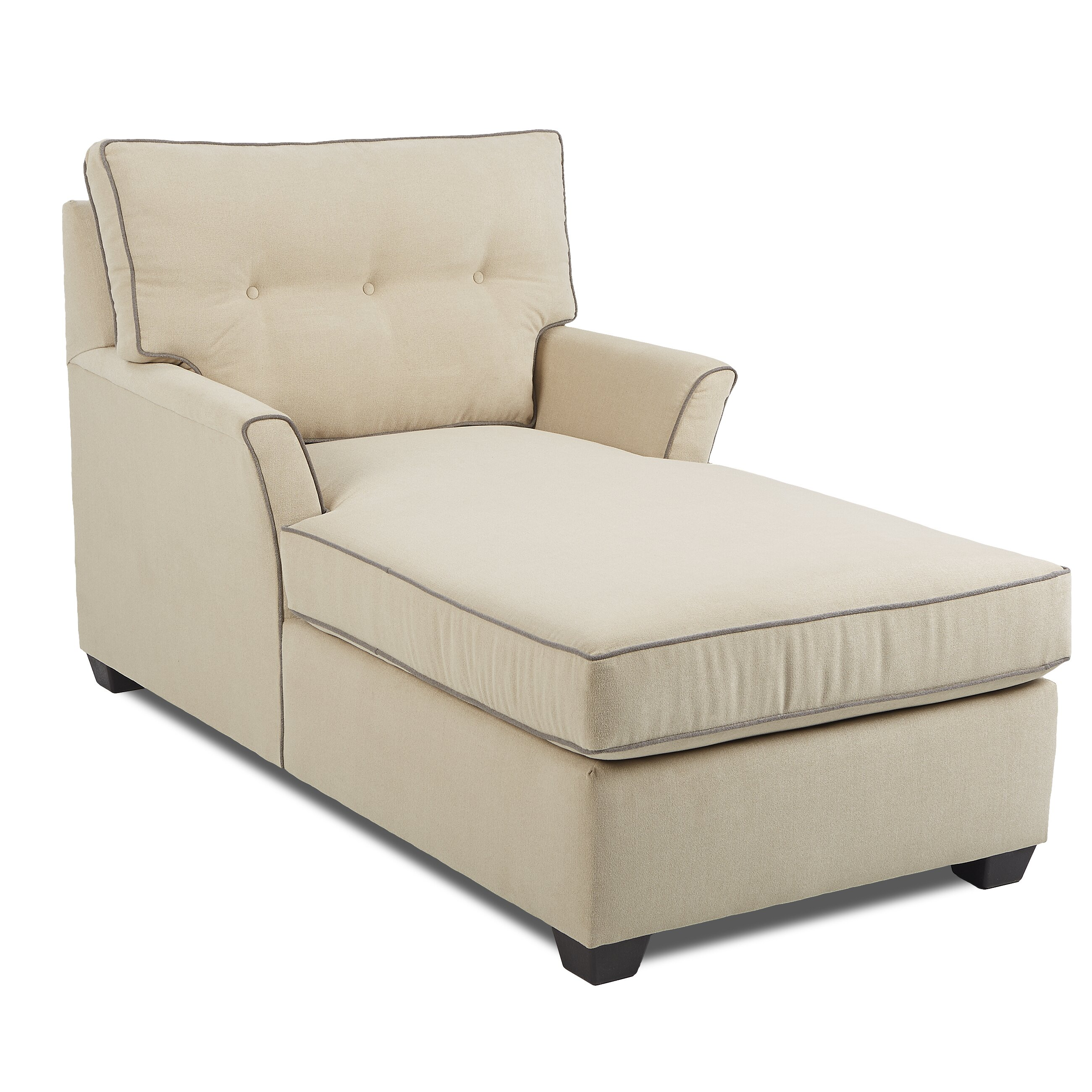Klaussner chaise lounge chairs klaussner comfy casual for Chaise lounge chair living room