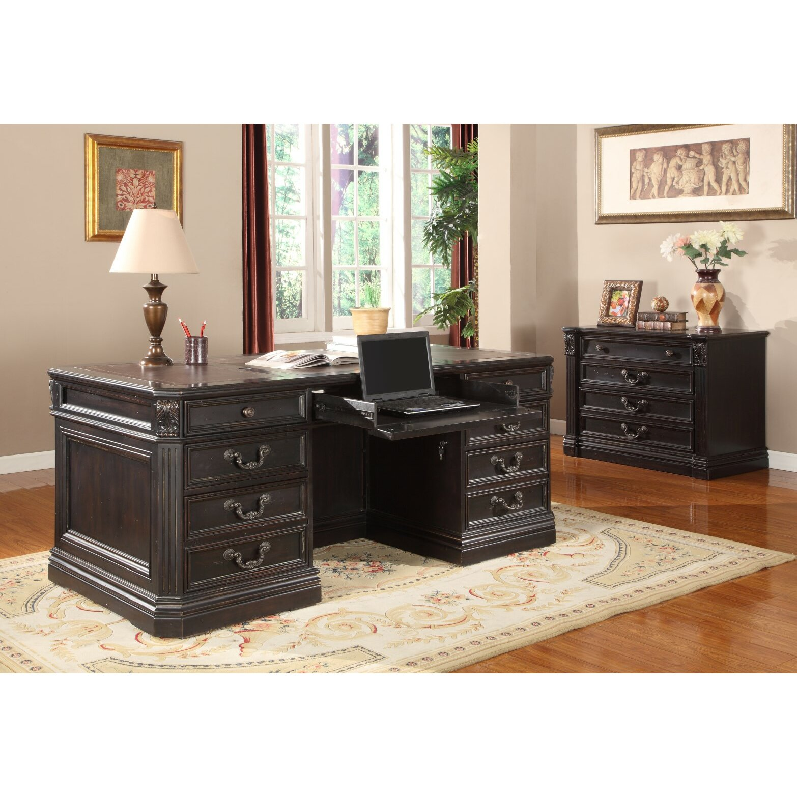 Parker House Grand Manor Palazzo Executive Desk And File Wall Reviews