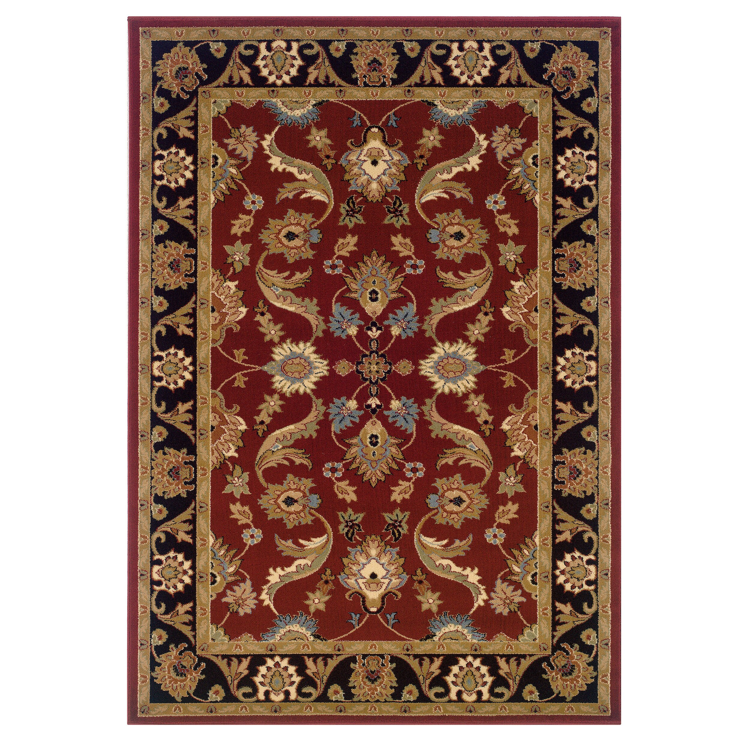 LR Resources Adana Persian Red/Black Area Rug & Reviews