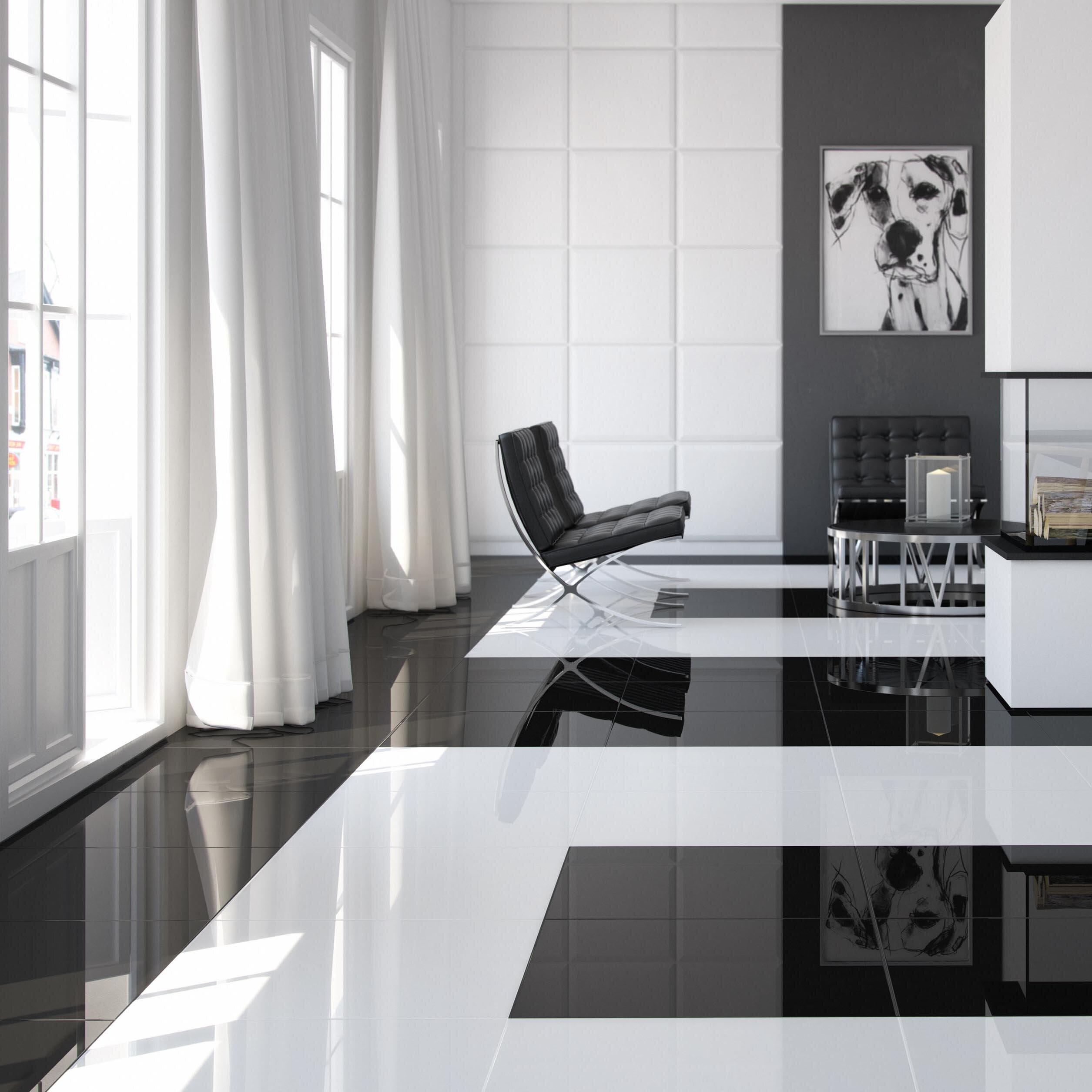 "17 Fancy Floor Tiles For Living Room Ideas: EliteTile Fortepiano 17.75"" X 17.75"" Porcelain Field Tile"