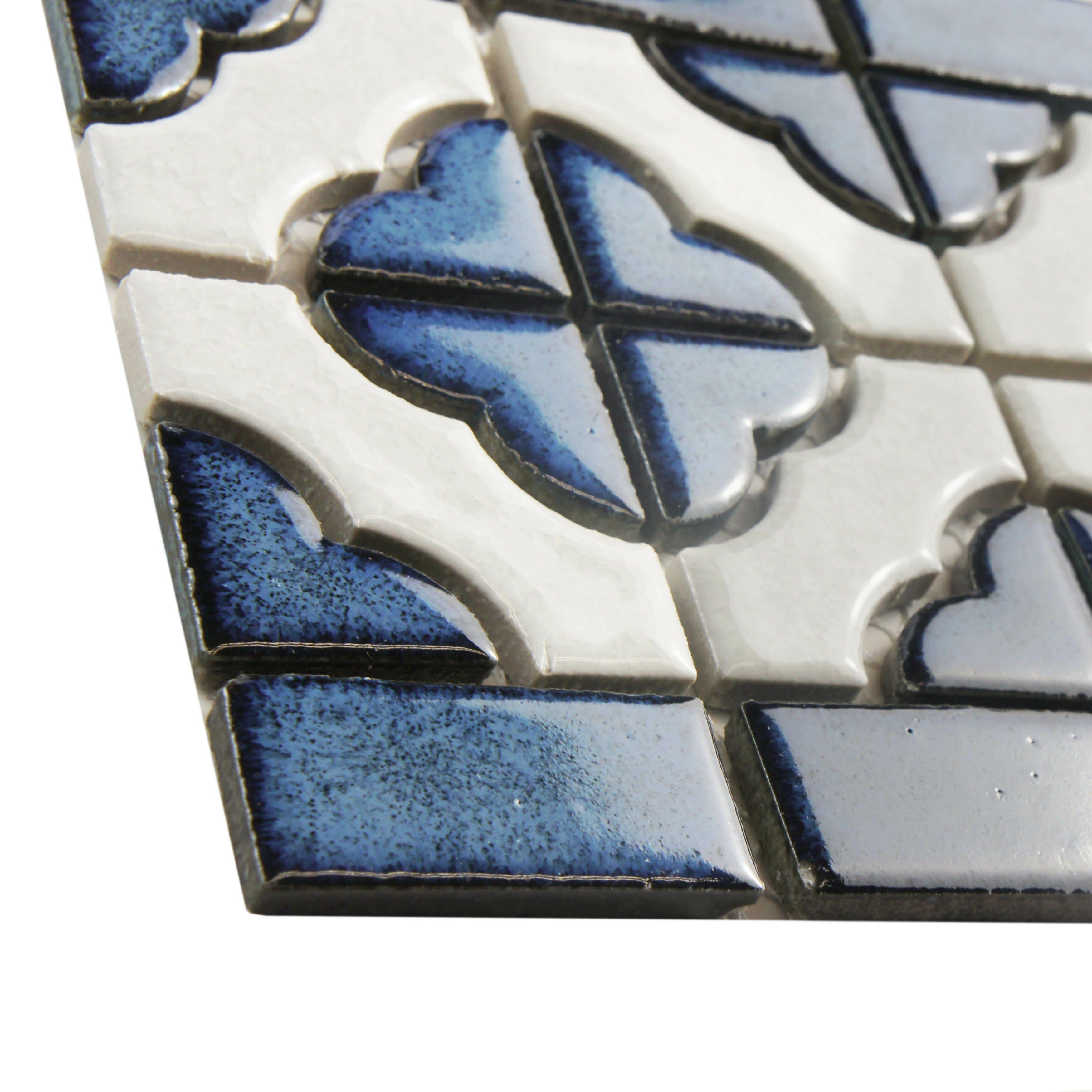 Elitetile Castle 5 75 Quot X 11 75 Quot Porcelain Mosaic Border