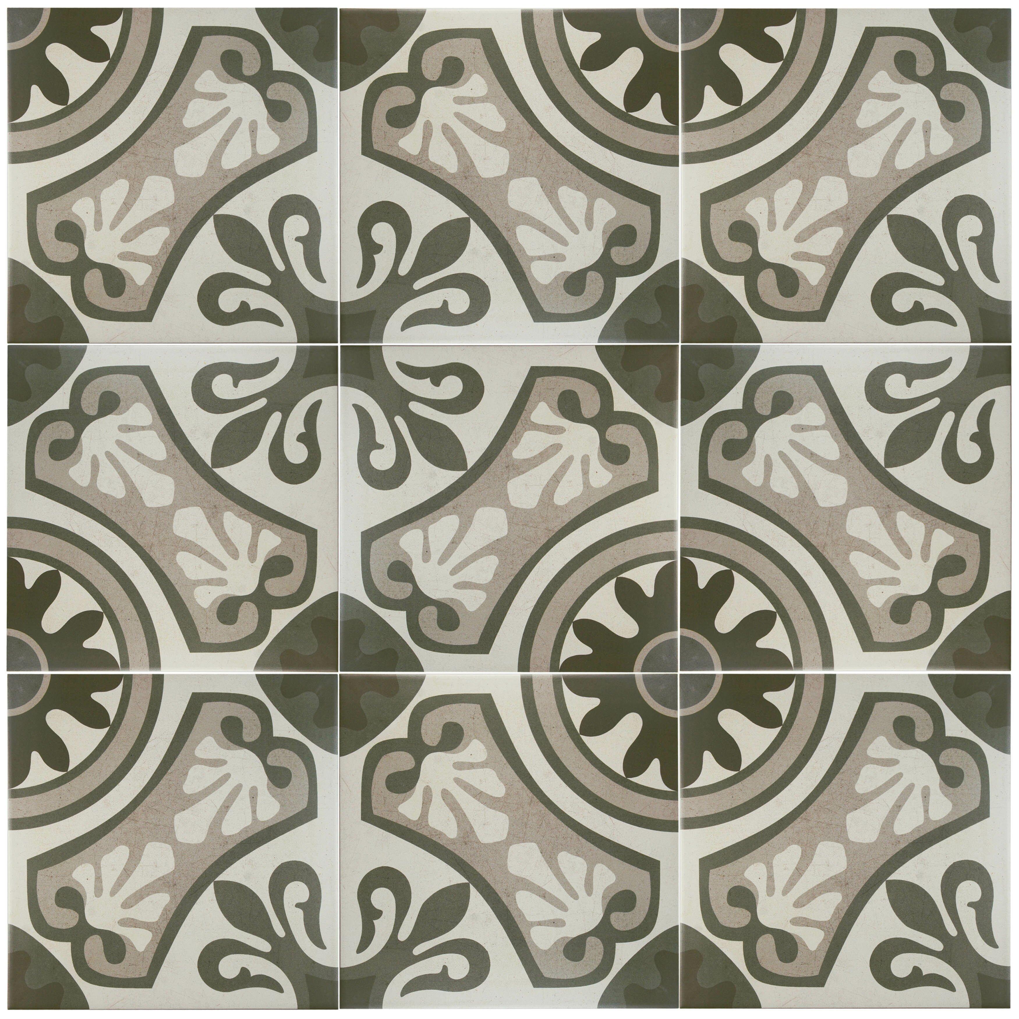 Elitetile serdi 13 x 13 ceramic field tile in grey for 13 inch ceramic floor tile