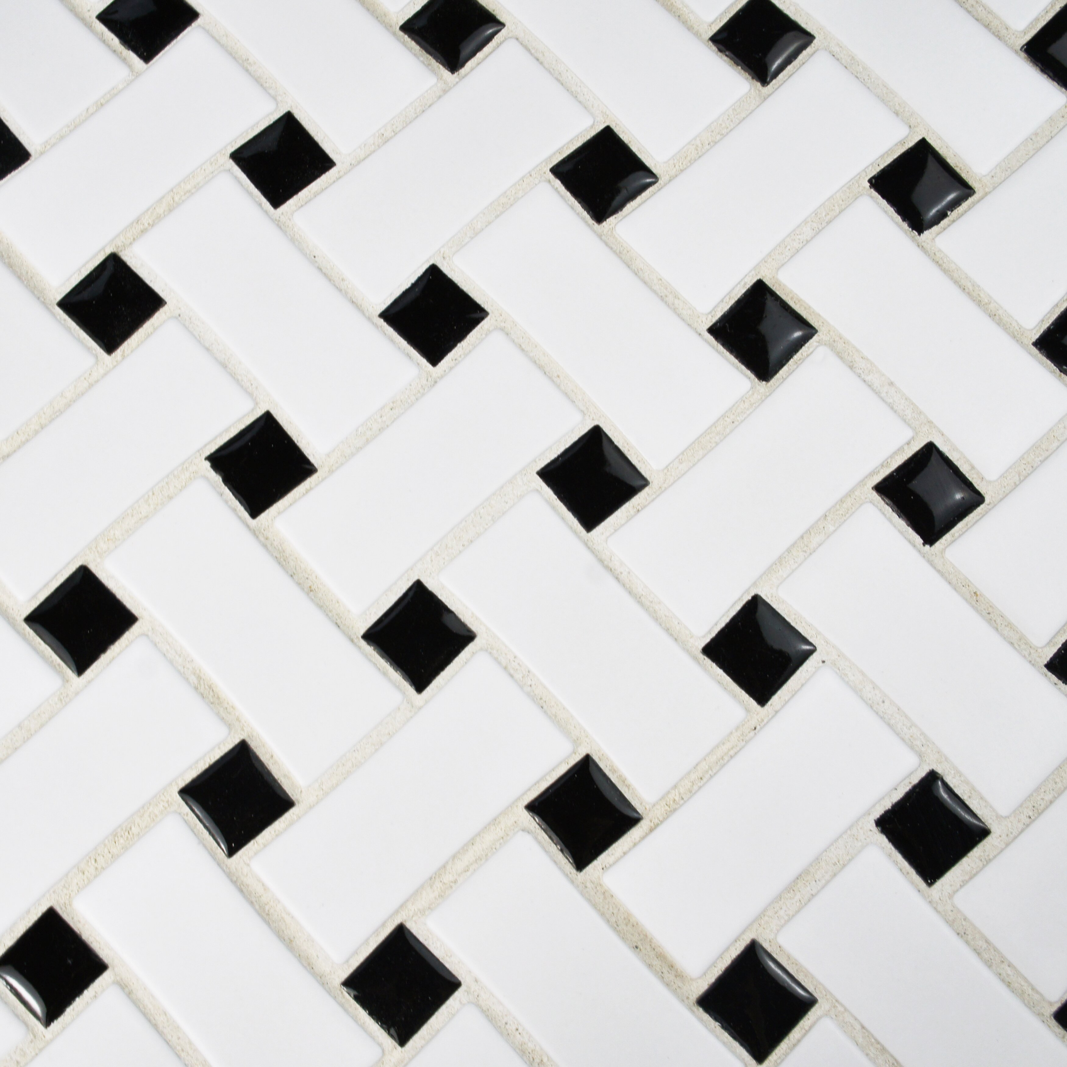 EliteTile Retro Basket Weave 105quot x 105quot Porcelain  : EliteTile Retro Basket Weave 105 x 105 Porcelain Mosaic Tile in Matte White and Black WFFDXMBWWB from www.wayfair.com size 3500 x 3500 jpeg 1431kB