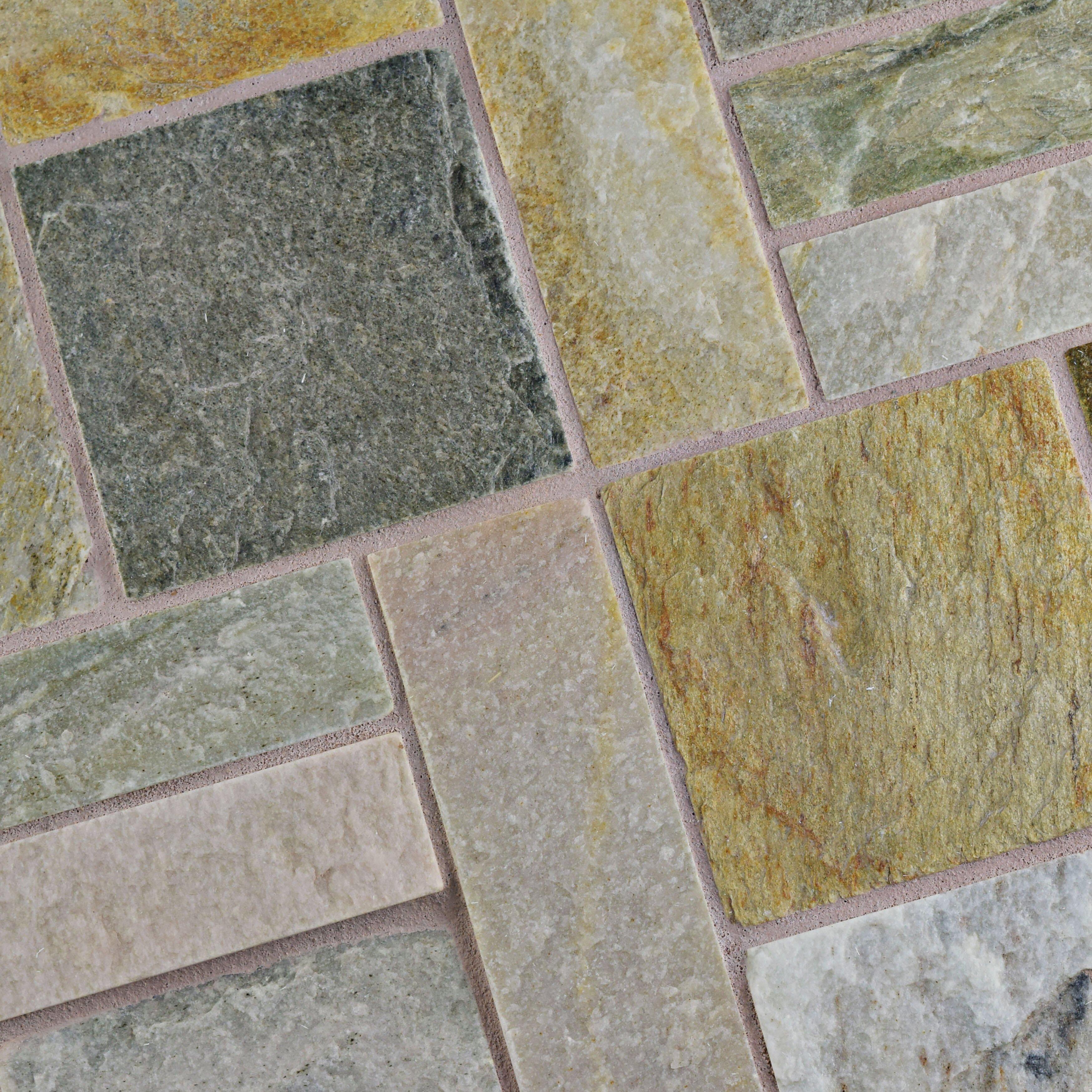 Quartzite Stone Tile : Elitetile peak patchwork quot natural stone mosaic