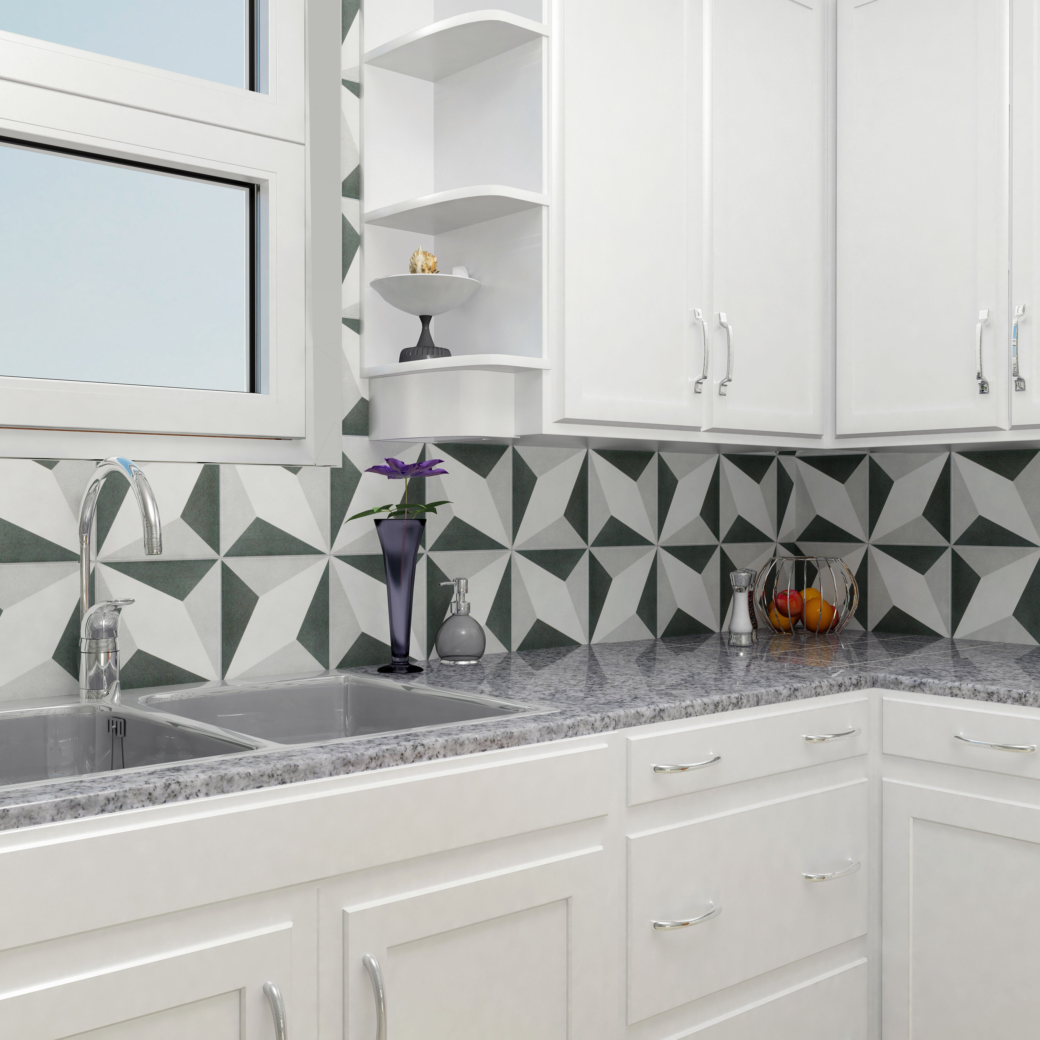 Elitetile Forties 7 75 Quot X 7 75 Quot Ceramic Floor And Wall