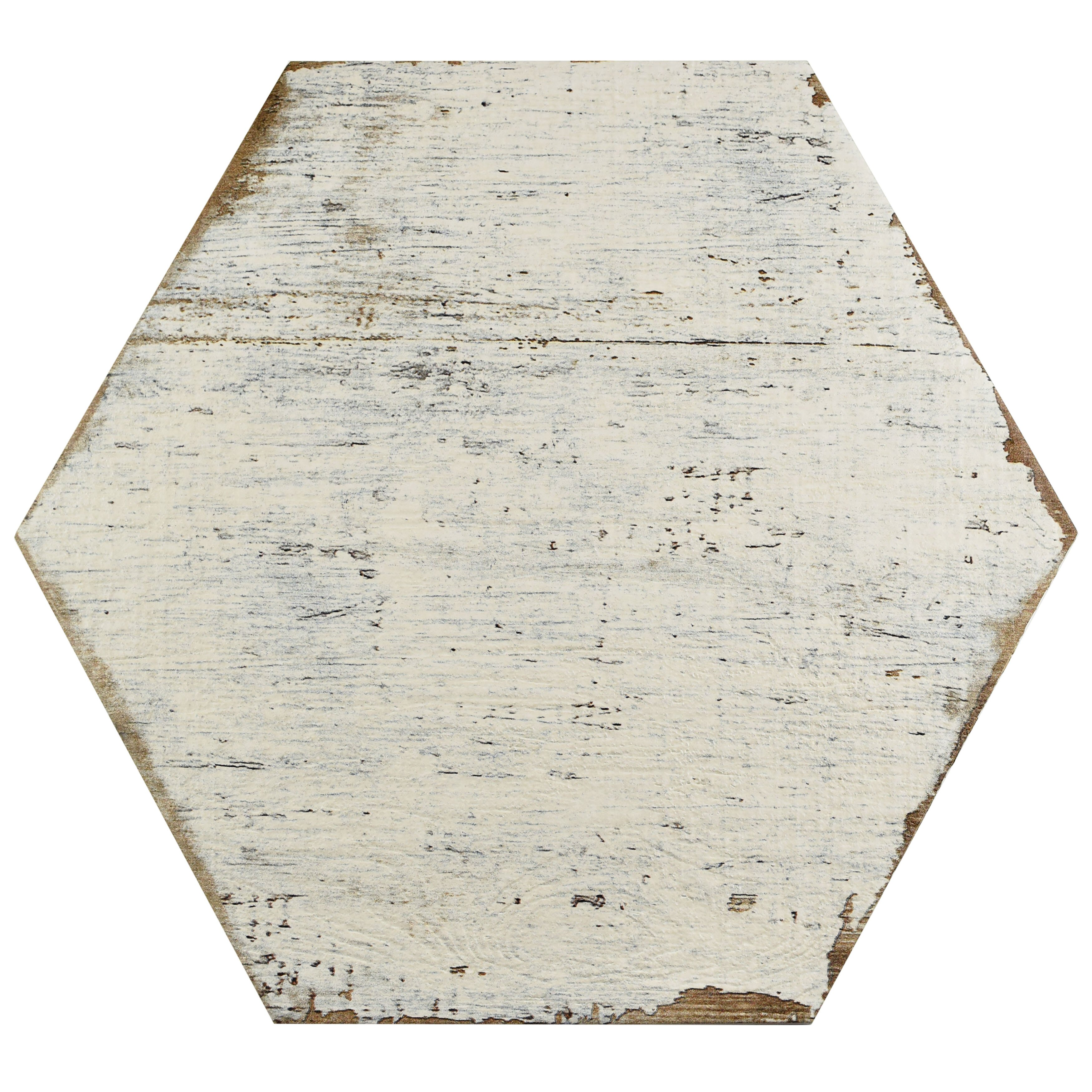 """... 16.25"""" Hex Porcelain Floor and Wall Tile in White & Reviews 
