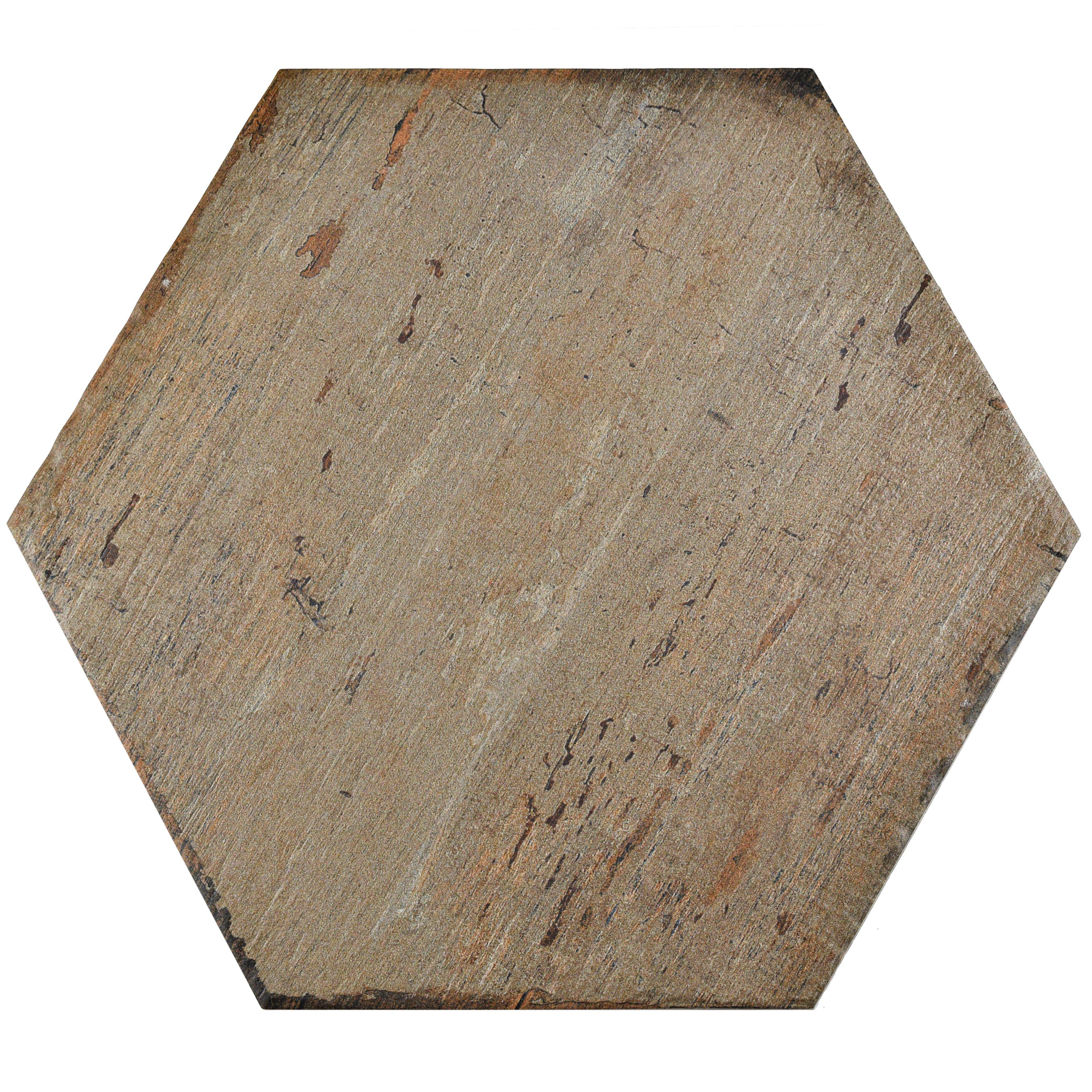 Elitetile Rama Hexagon 14 13 Quot X 16 25 Quot Porcelain Mosaic