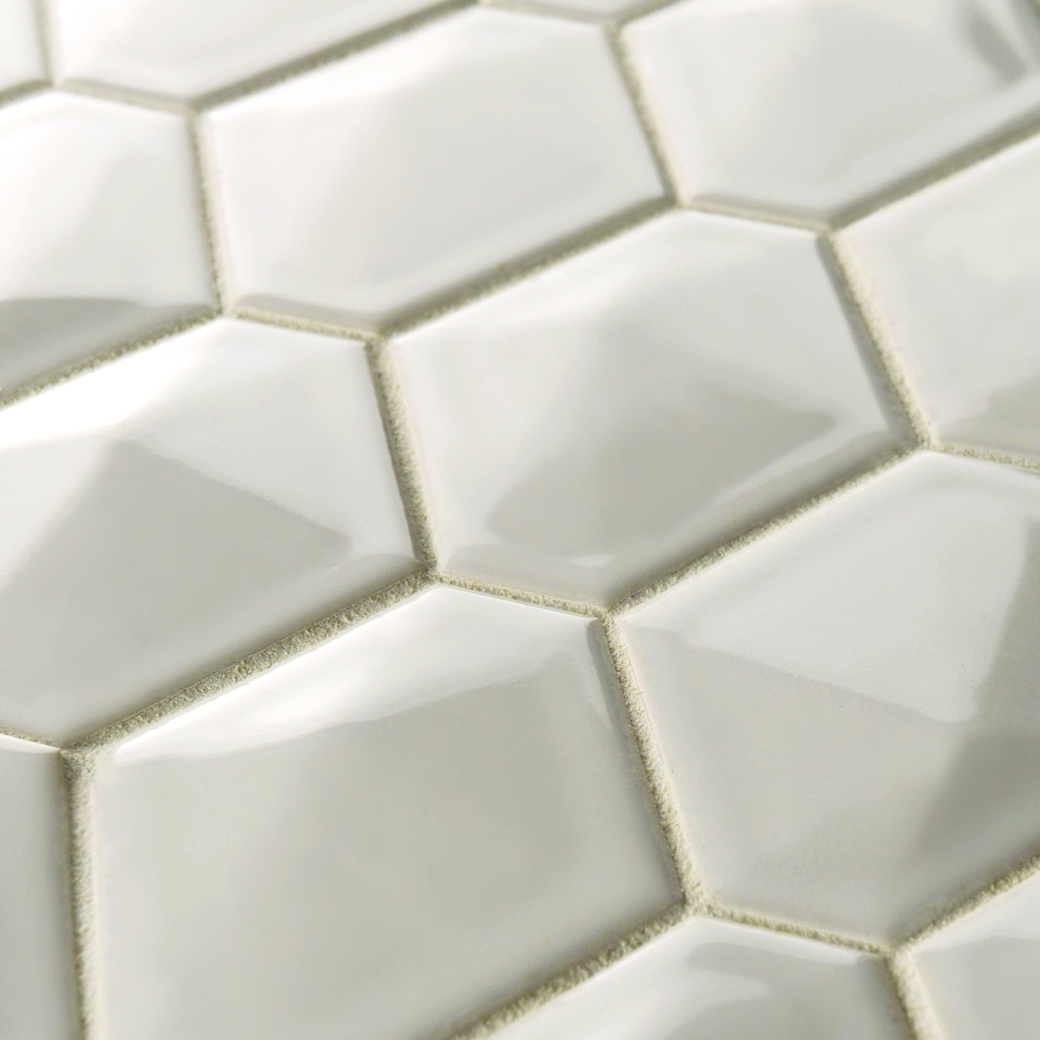 Elitetile Fractal 2 75 Quot X 3 5 Quot Porcelain Mosaic Tile In