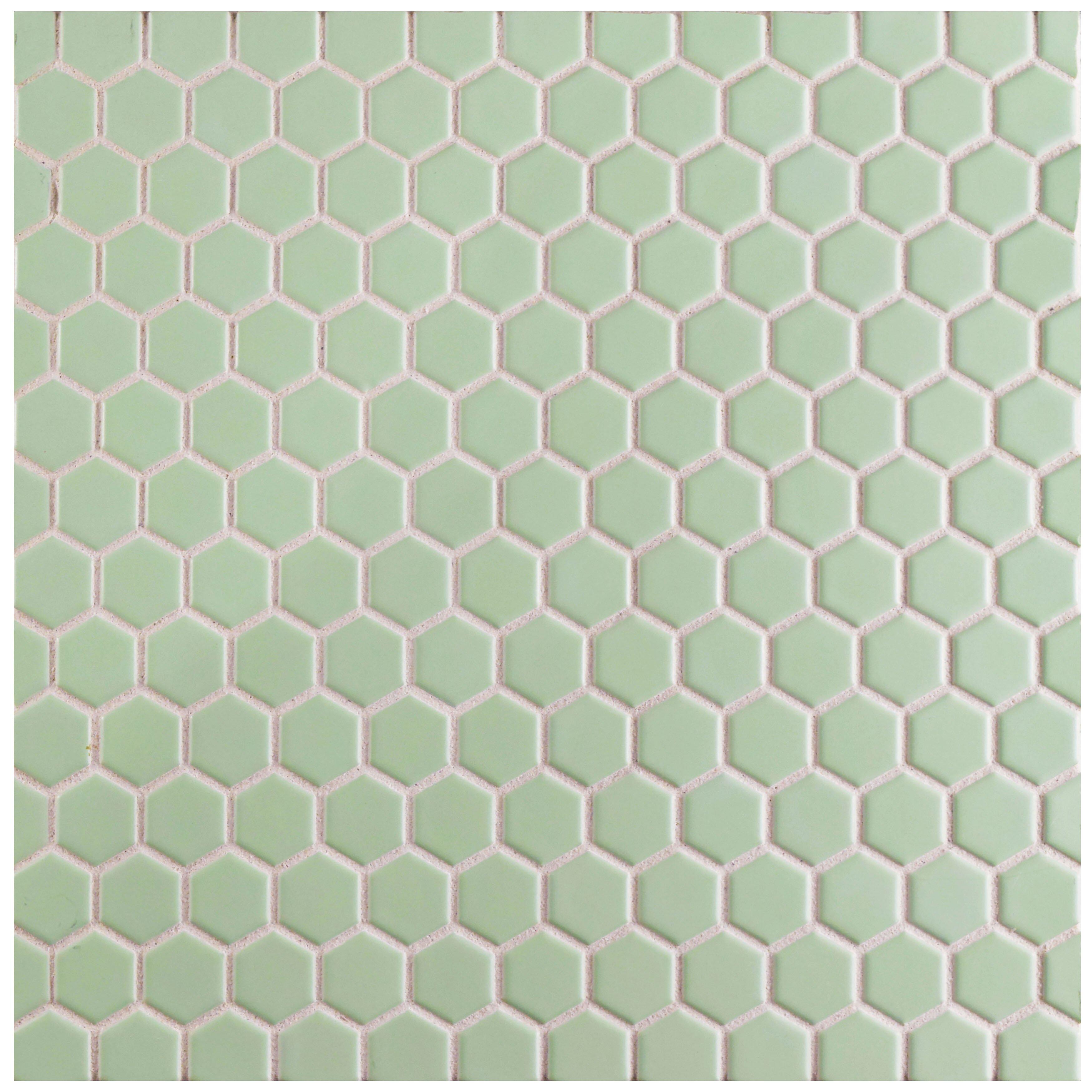 Elitetile Retro Hexagon 0 875 Quot X 0 875 Quot Porcelain Mosaic