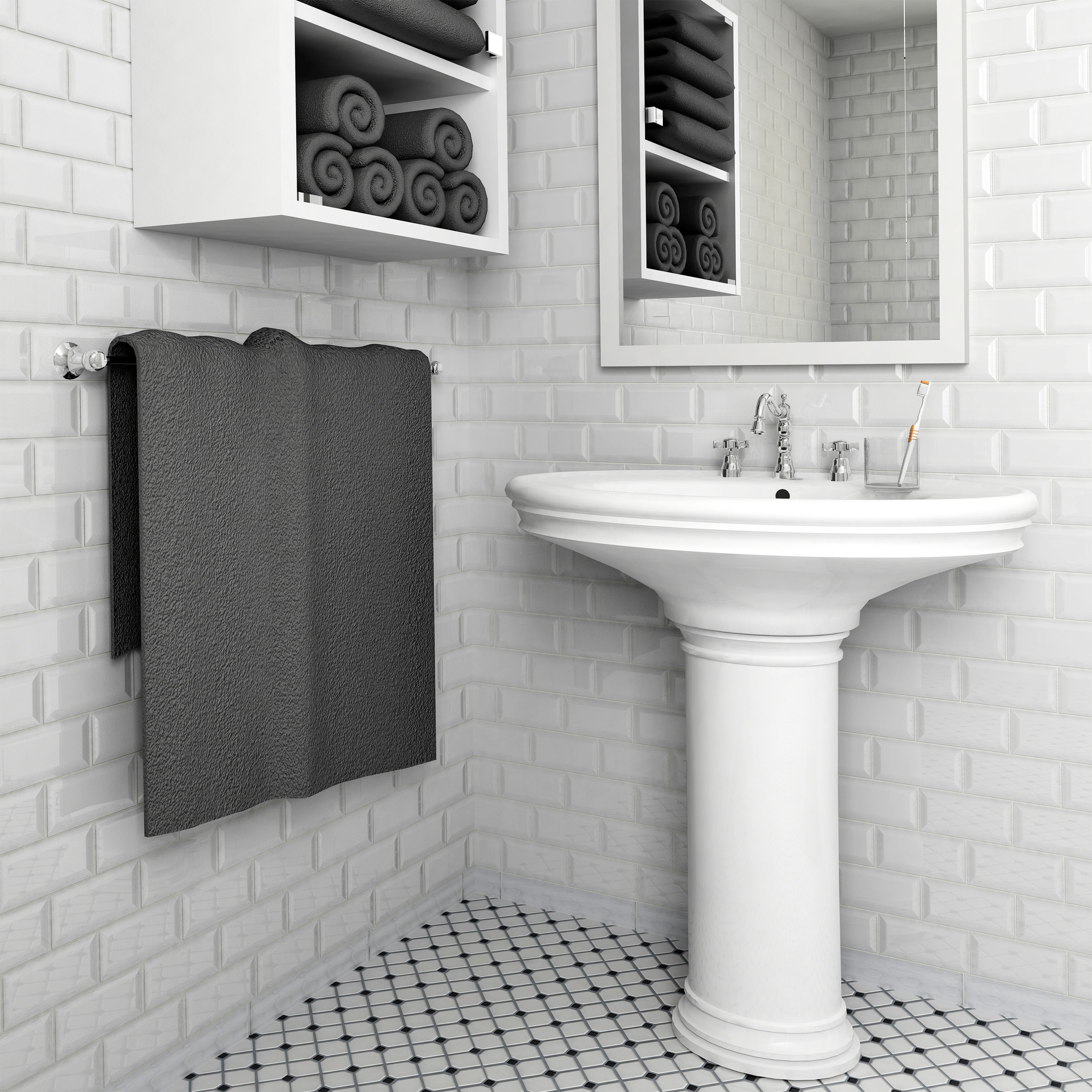 """EliteTile Prospect 3"""" X 6"""" Ceramic Subway Tile In Glossy"""