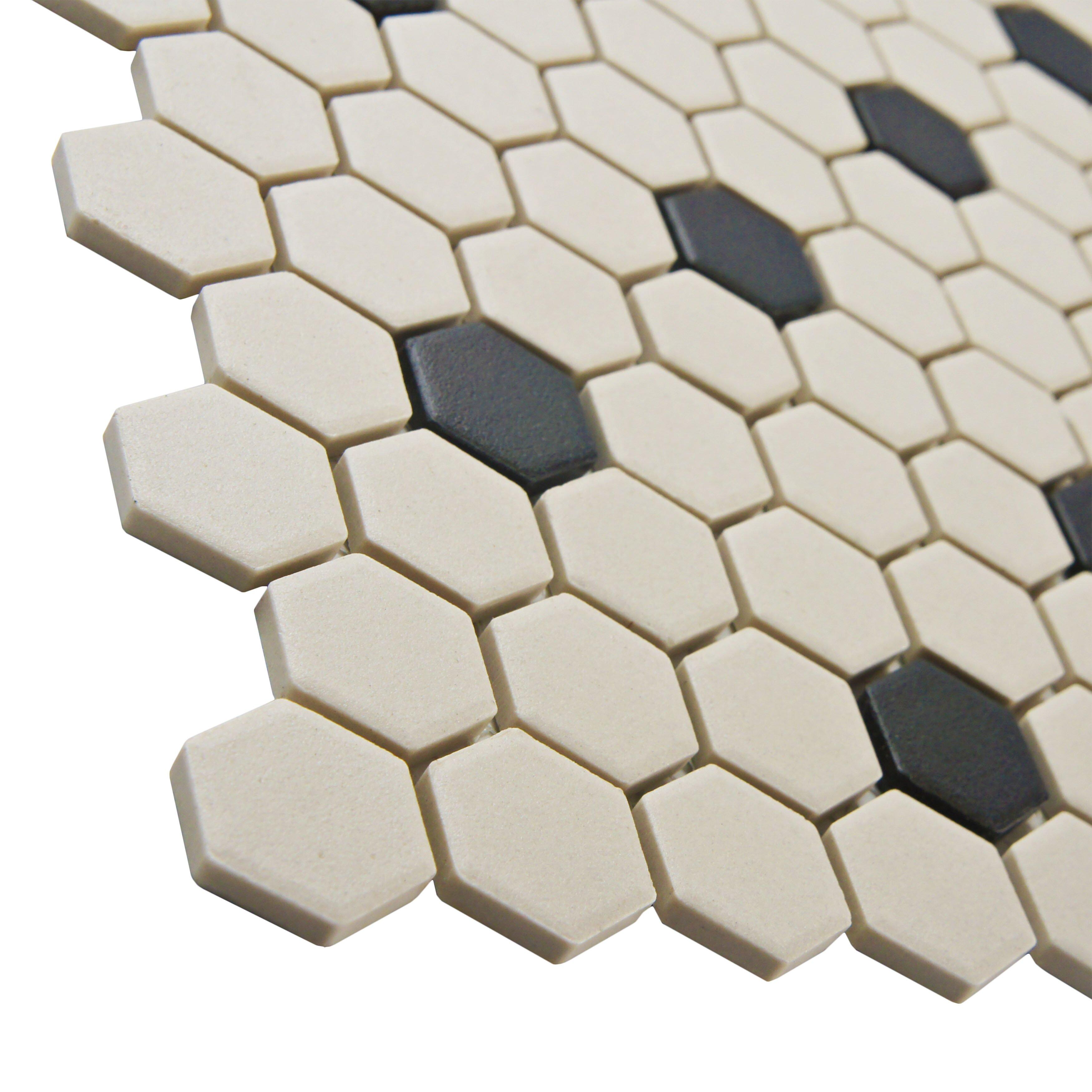 Elitetile New York Hexagon 0 875 Quot X 0 875 Quot Porcelain