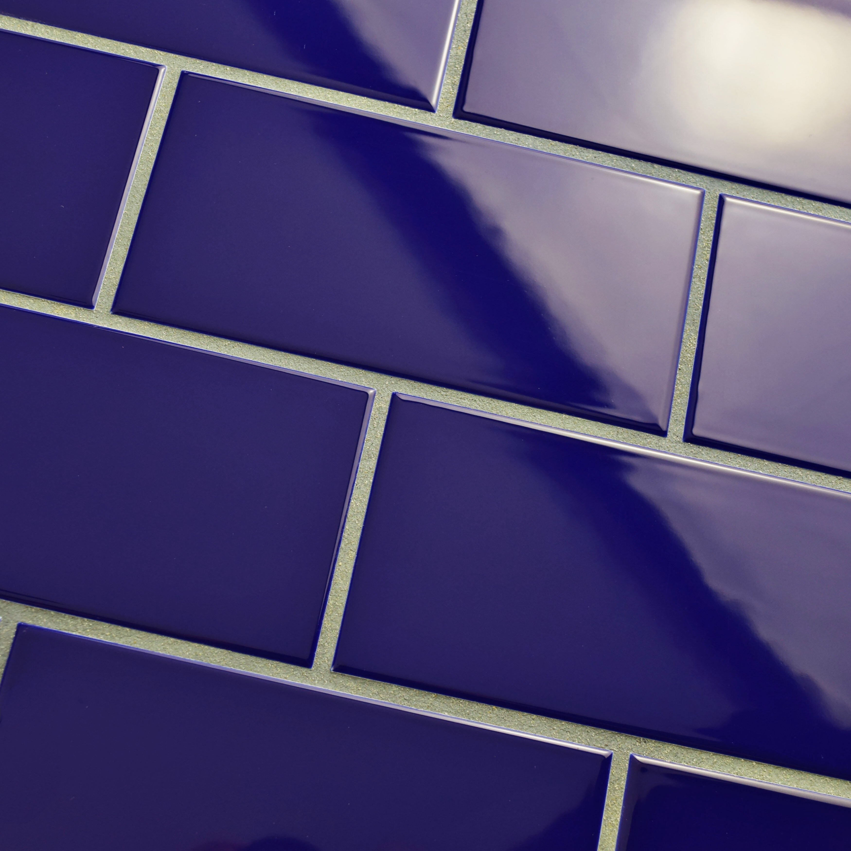 blue ceramic subway tile elitetile prospect 3 quot x 6 quot ceramic subway tile in royal 4803
