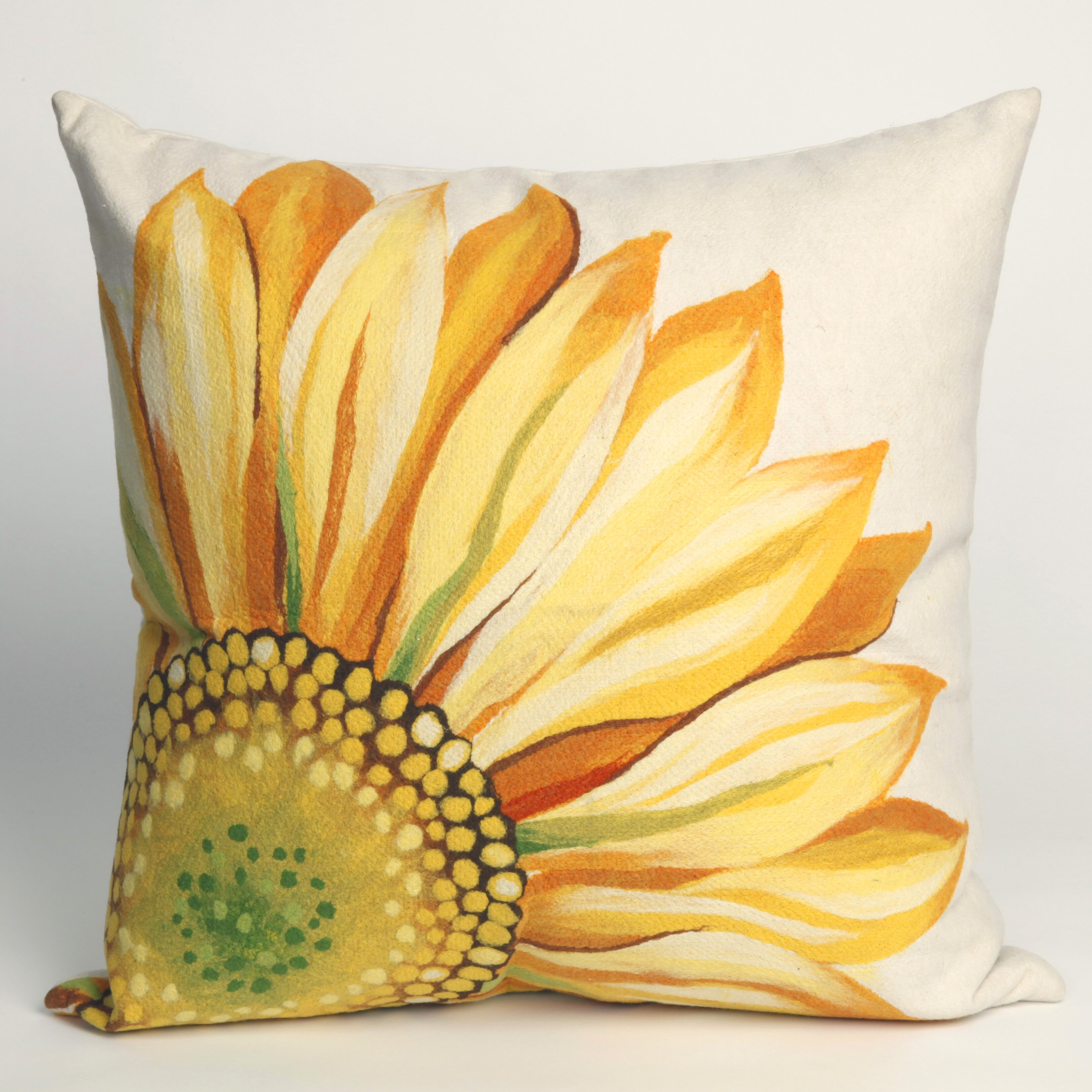 Decorative Pillows With Sunflowers : Liora Manne Sunflower Indoor/Outdoor Throw Pillow & Reviews Wayfair