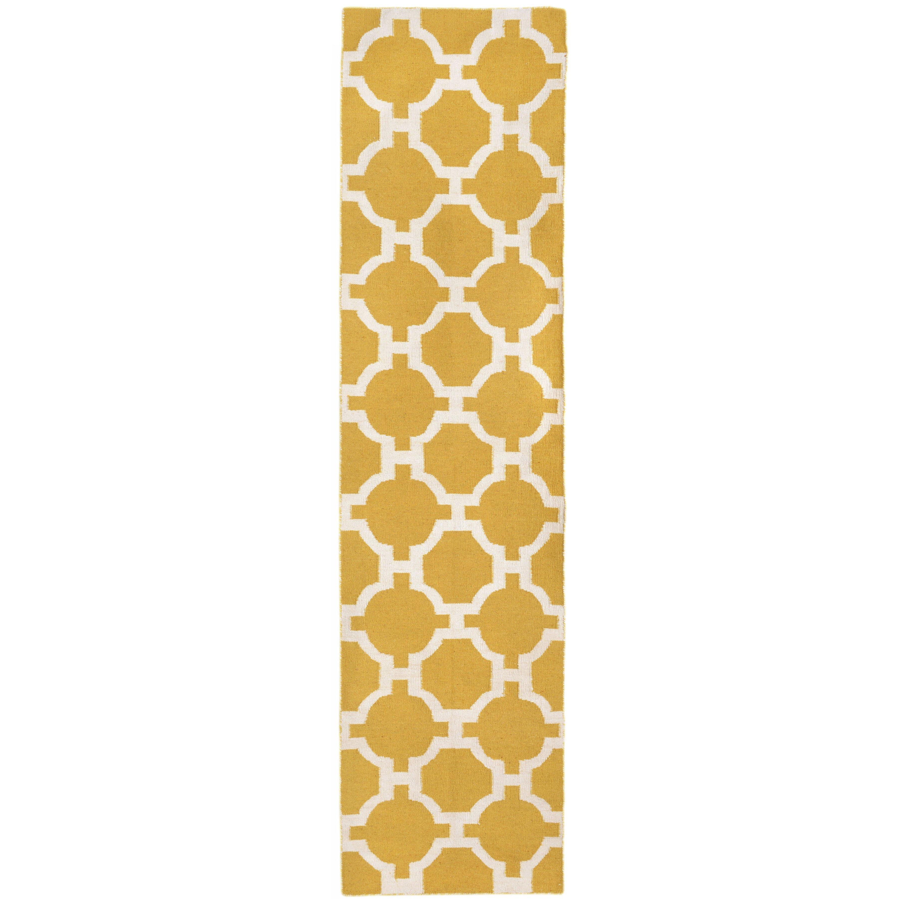 Liora Manne Assisi Yellow Tile Indoor Outdoor Area Rug