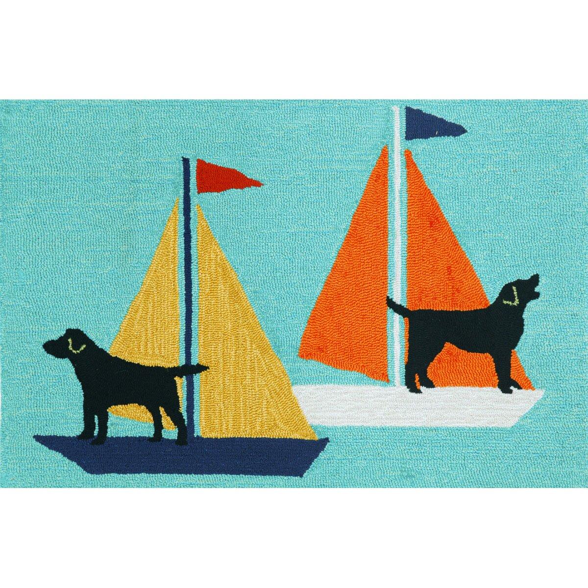 Transocean Dog Rug: Liora Manne Frontporch Sailing Dog Area Rug & Reviews