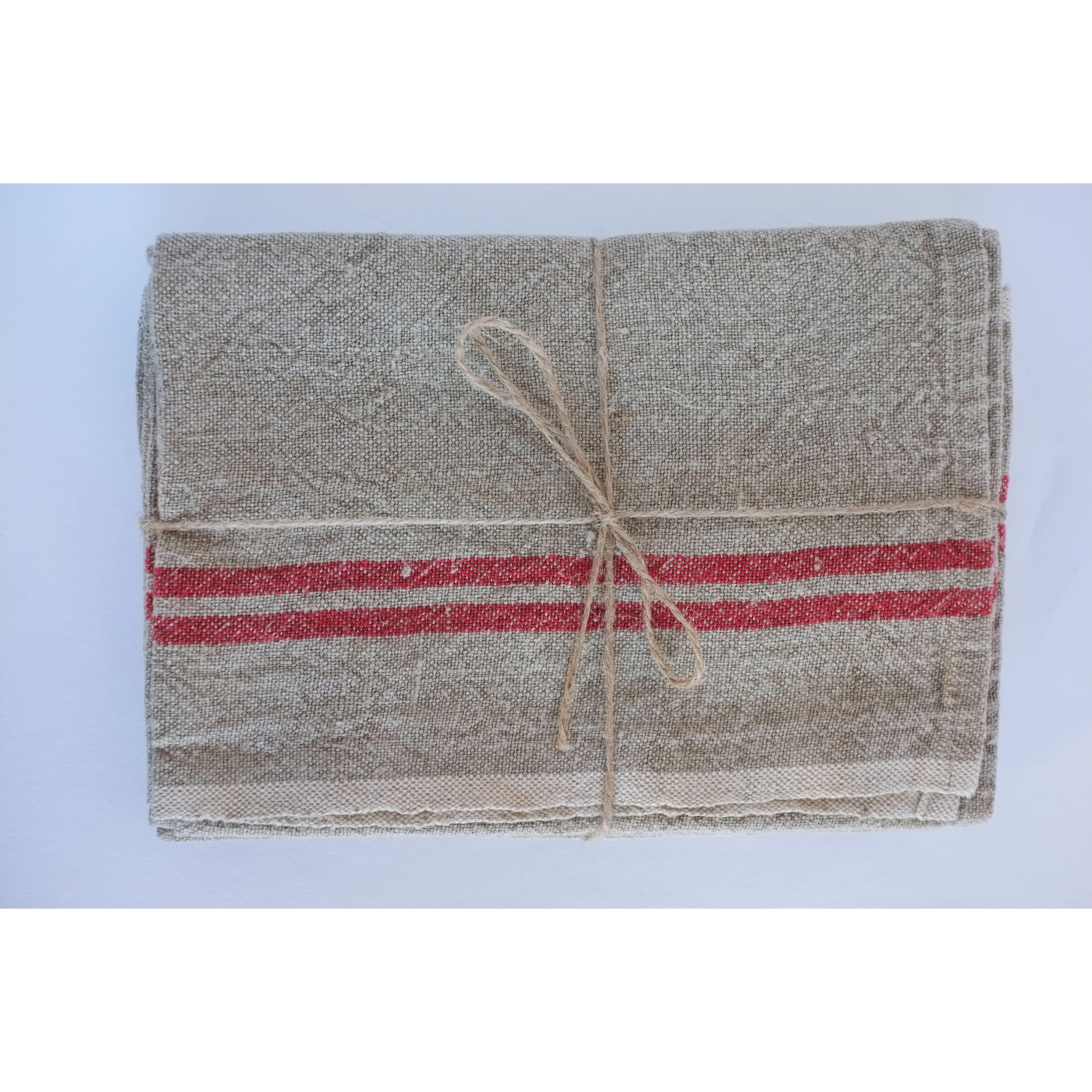 couleur nature khadhi linen stripe tea towel reviews. Black Bedroom Furniture Sets. Home Design Ideas