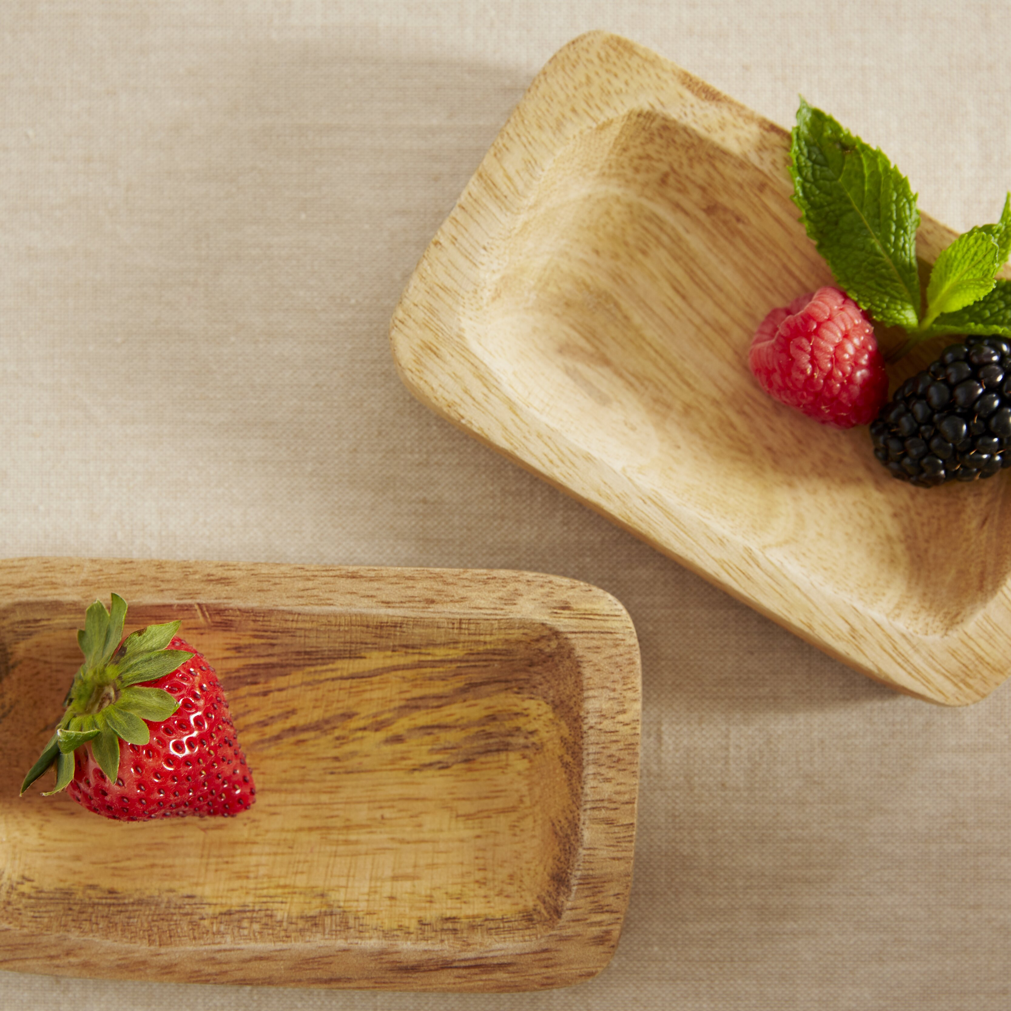 couleur nature light wood serving tray wayfair. Black Bedroom Furniture Sets. Home Design Ideas