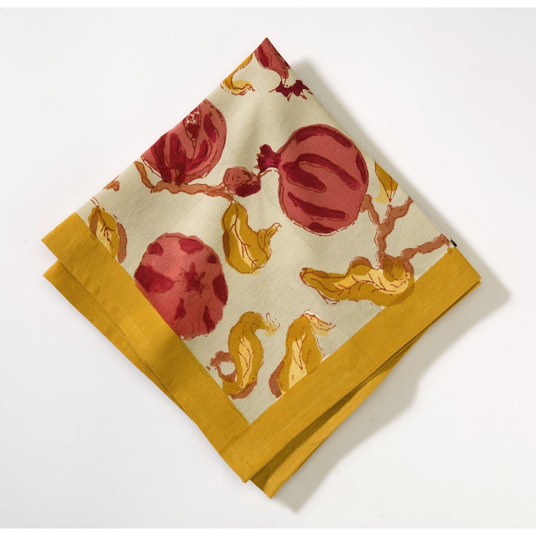 couleur nature pomegranate napkin reviews wayfair. Black Bedroom Furniture Sets. Home Design Ideas