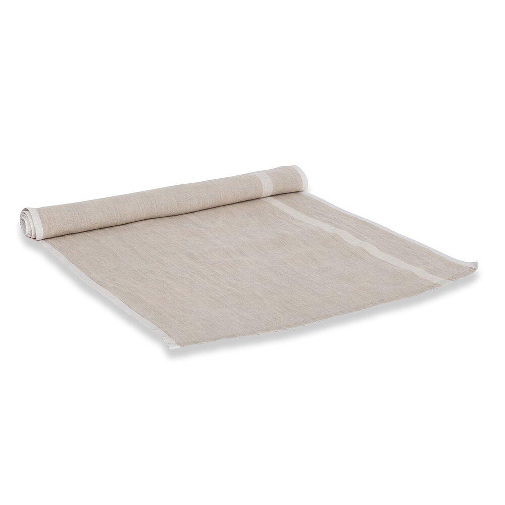 couleur nature laundered linen stripe table runner. Black Bedroom Furniture Sets. Home Design Ideas