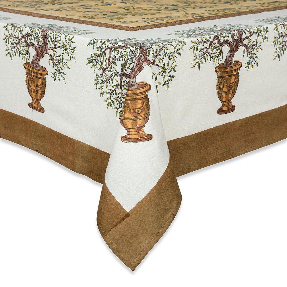 couleur nature olive tree tablecloth reviews wayfair. Black Bedroom Furniture Sets. Home Design Ideas
