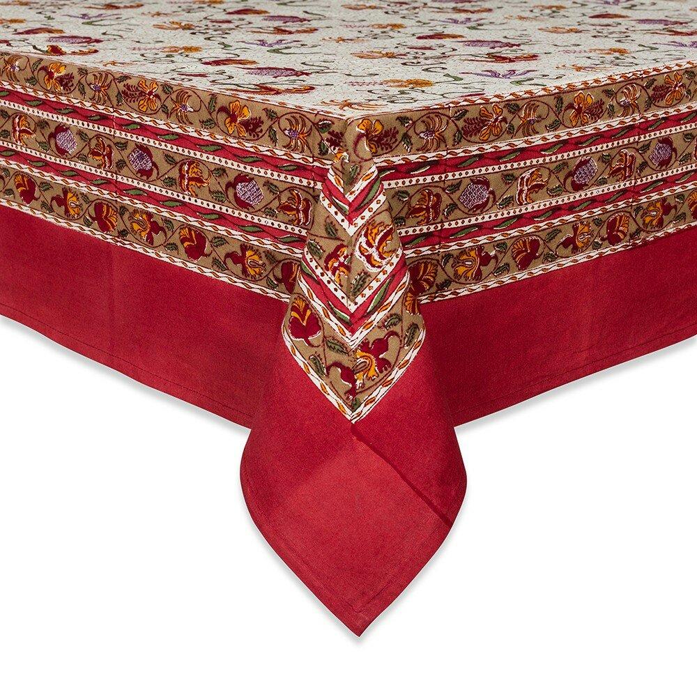 couleur nature fleurs des indes tablecloth. Black Bedroom Furniture Sets. Home Design Ideas