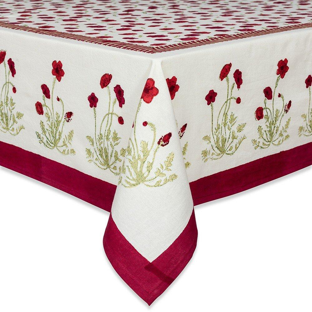 couleur nature poppies tablecloth reviews wayfair. Black Bedroom Furniture Sets. Home Design Ideas