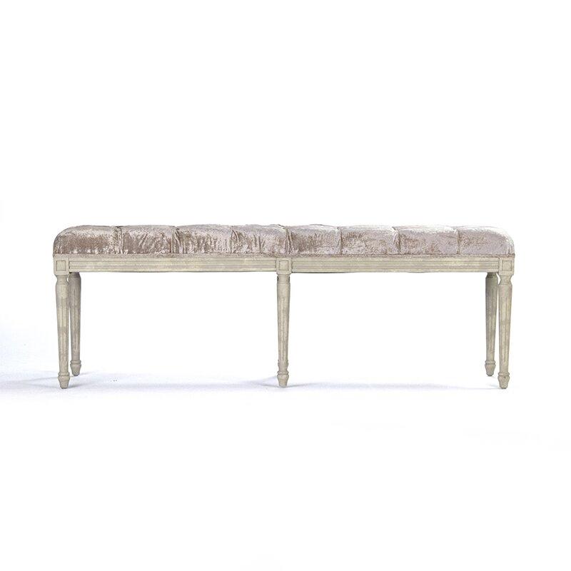 Zentique Inc Louie Upholstered Kitchen Bench