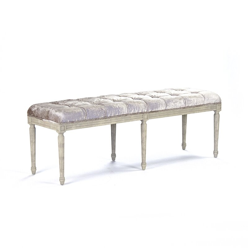 Zentique Inc Louie Upholstered Kitchen Bench