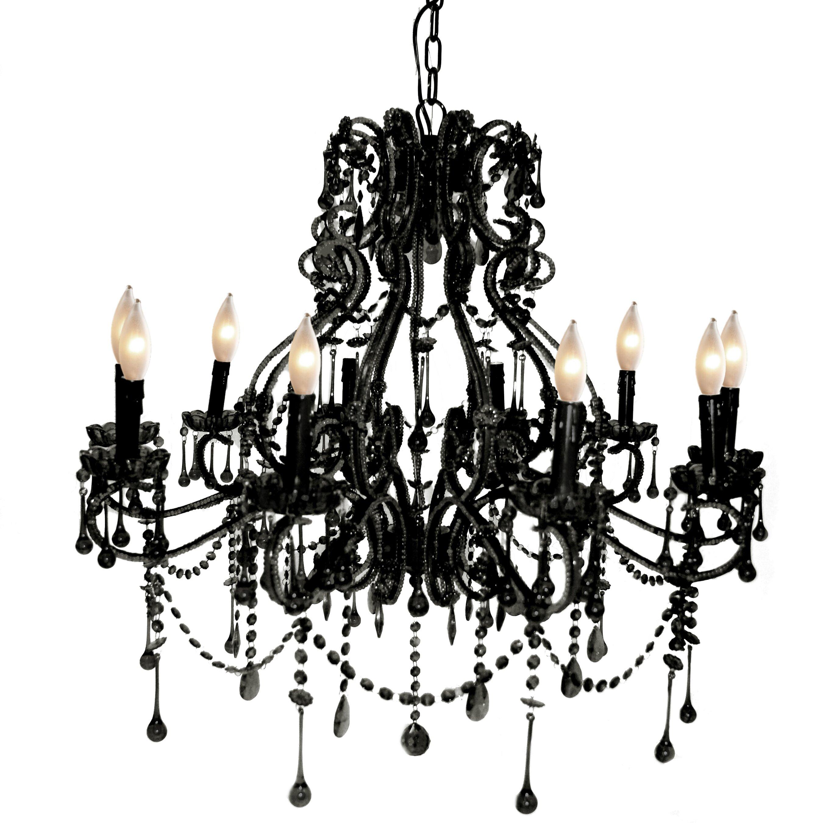 Pangea Home Isabella 10 Light Candle Chandelier Wayfair