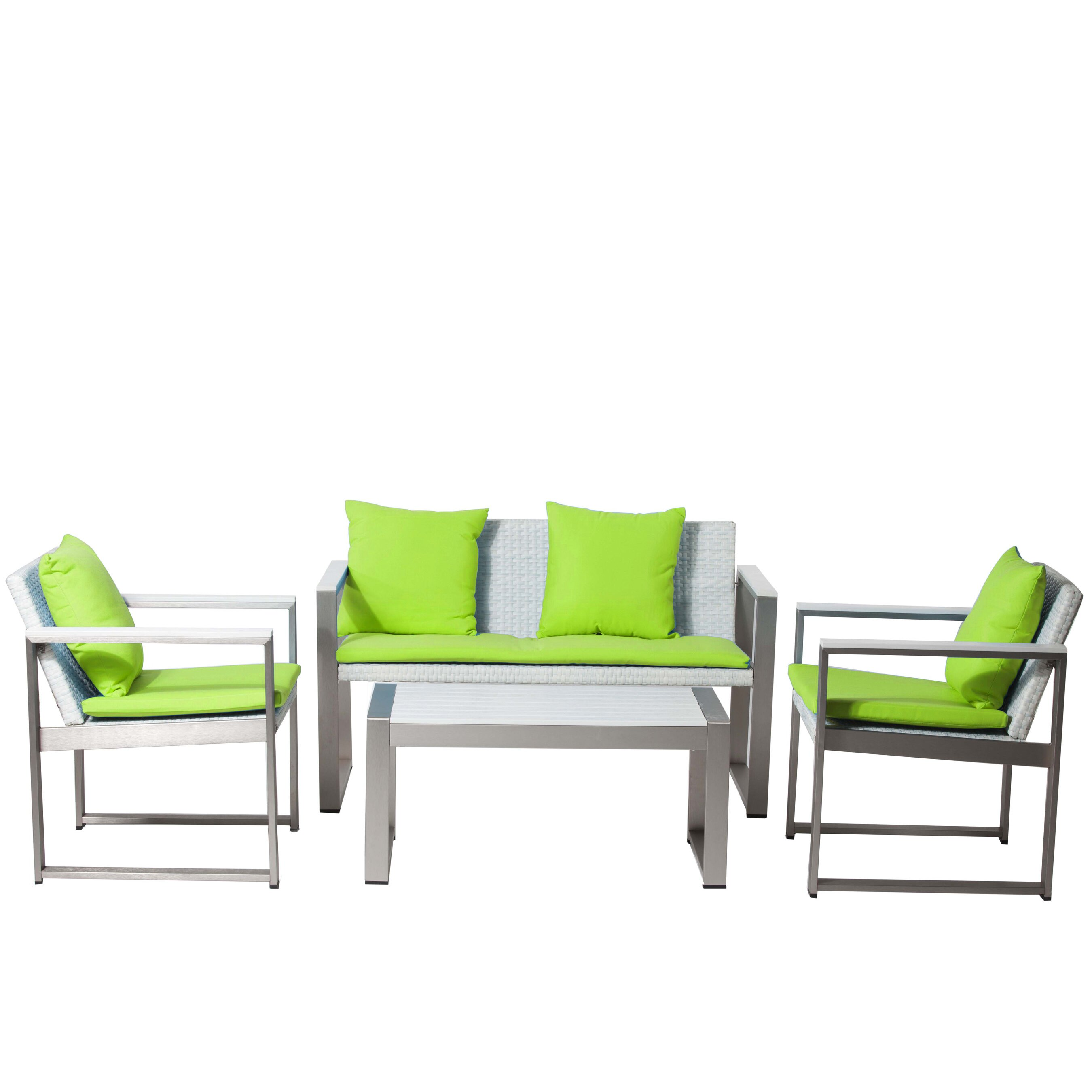 Pangea Home Chester 4 Piece Lounge Seating Group with