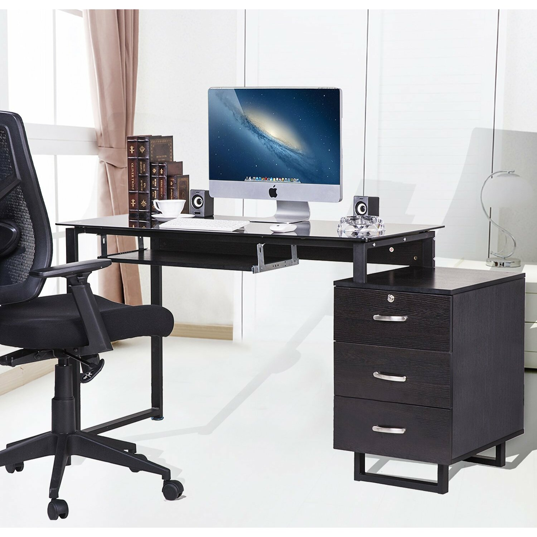merax computer desk reviews wayfair. Black Bedroom Furniture Sets. Home Design Ideas