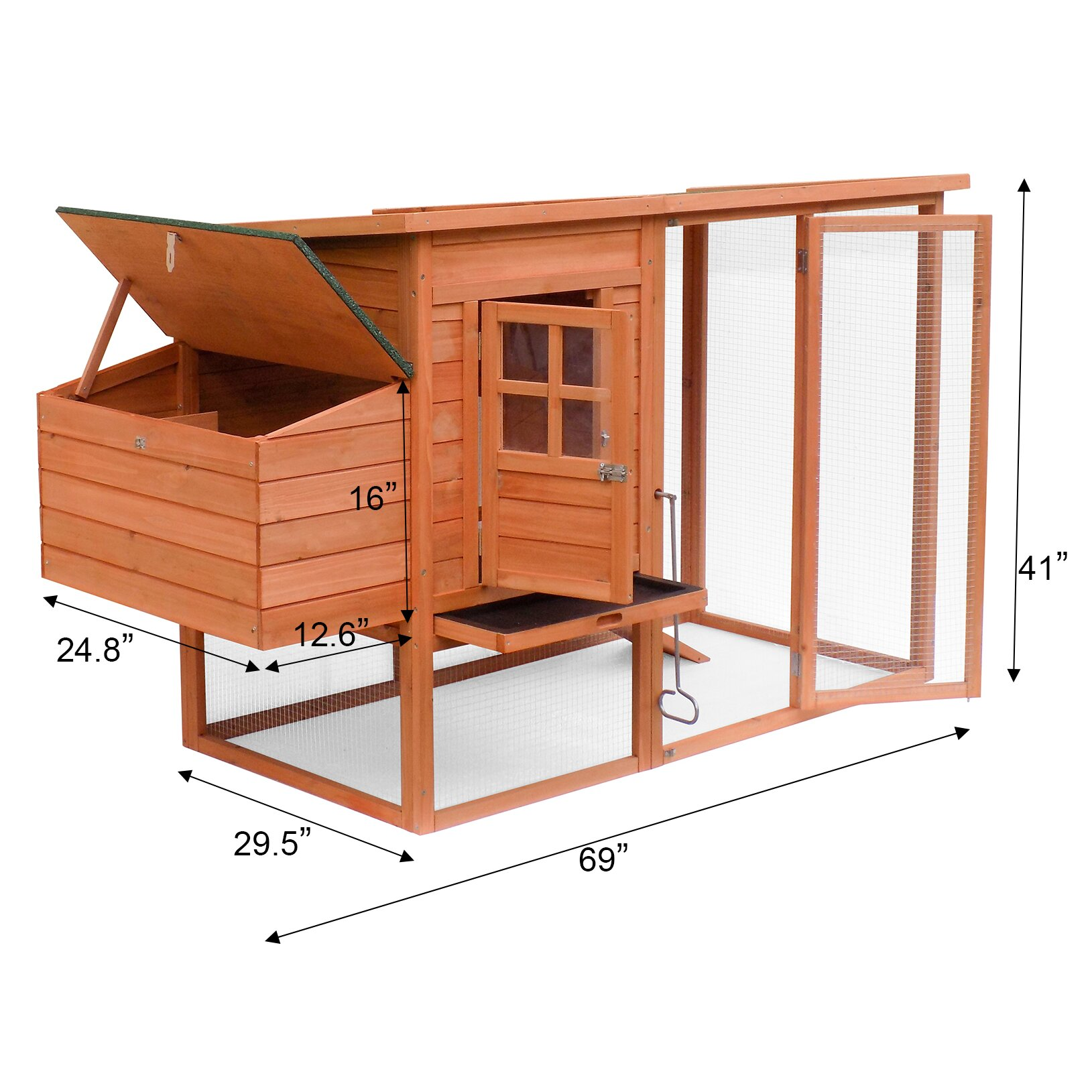 Merax Large Wooden Chicken Coop With Nesting Box Wayfair