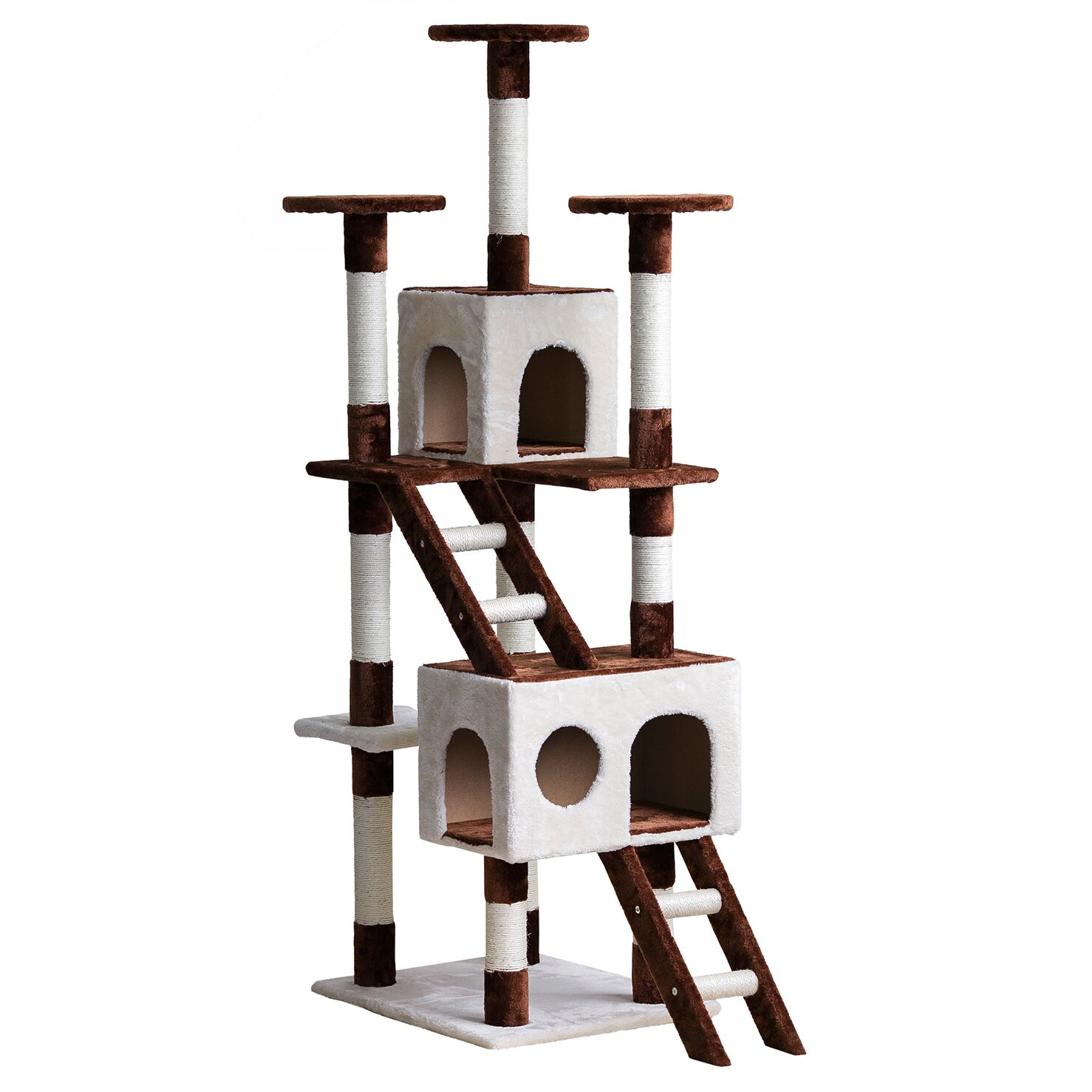 "Creative Cat Towers: Merax 69"" Unique Design Color-Matching Cat Tree With"