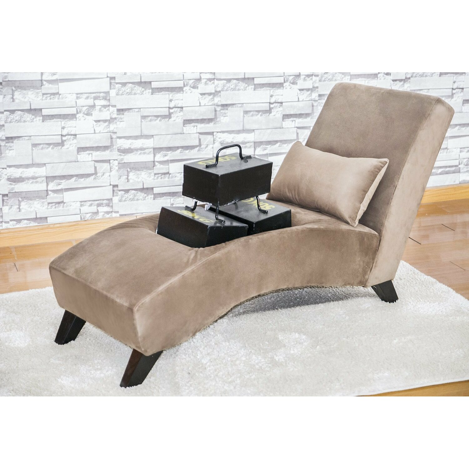 Merax classic chaise lounge reviews wayfair for Brown microfiber chaise lounger