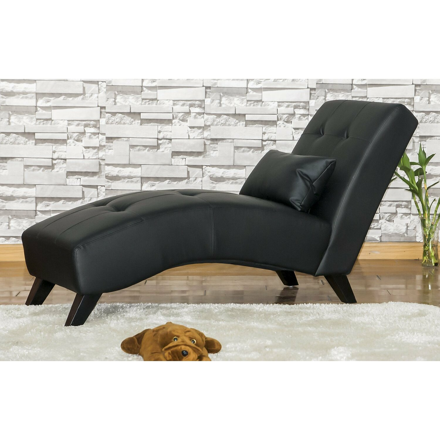 Merax chaise lounge reviews wayfair for Chaise lounge black