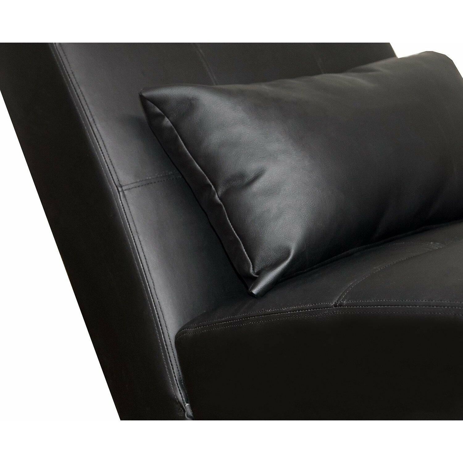 Merax chaise lounge reviews wayfair for Chaise lounge black leather