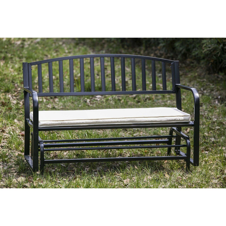 Merax Concise Armchair Garden Gliding Bench