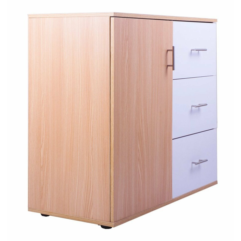 Merax 3 drawer and 1 shelf storage cabinet wayfair for Off the shelf cabinets