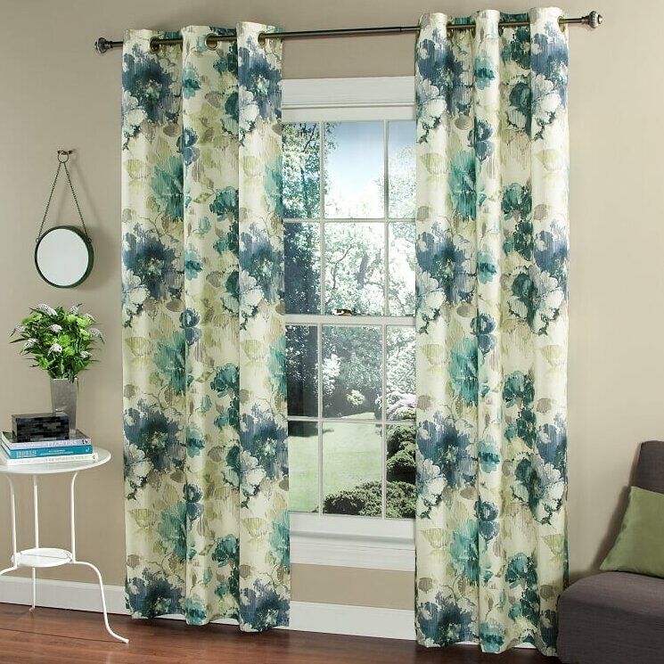 M.style Watermark Floral Curtain Panel & Reviews