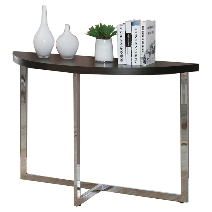 Monarch specialties inc half moon console table reviews for 1 2 moon table