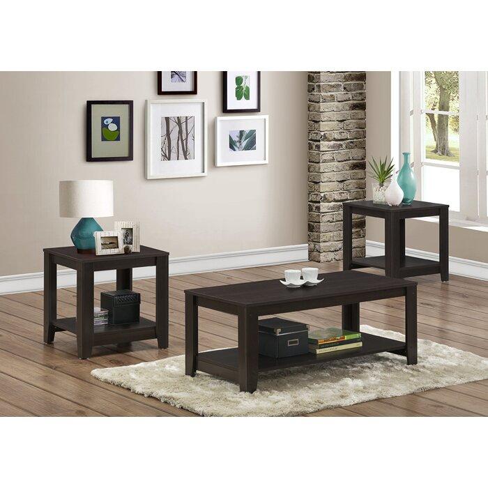 monarch specialties inc 3 piece coffee table set