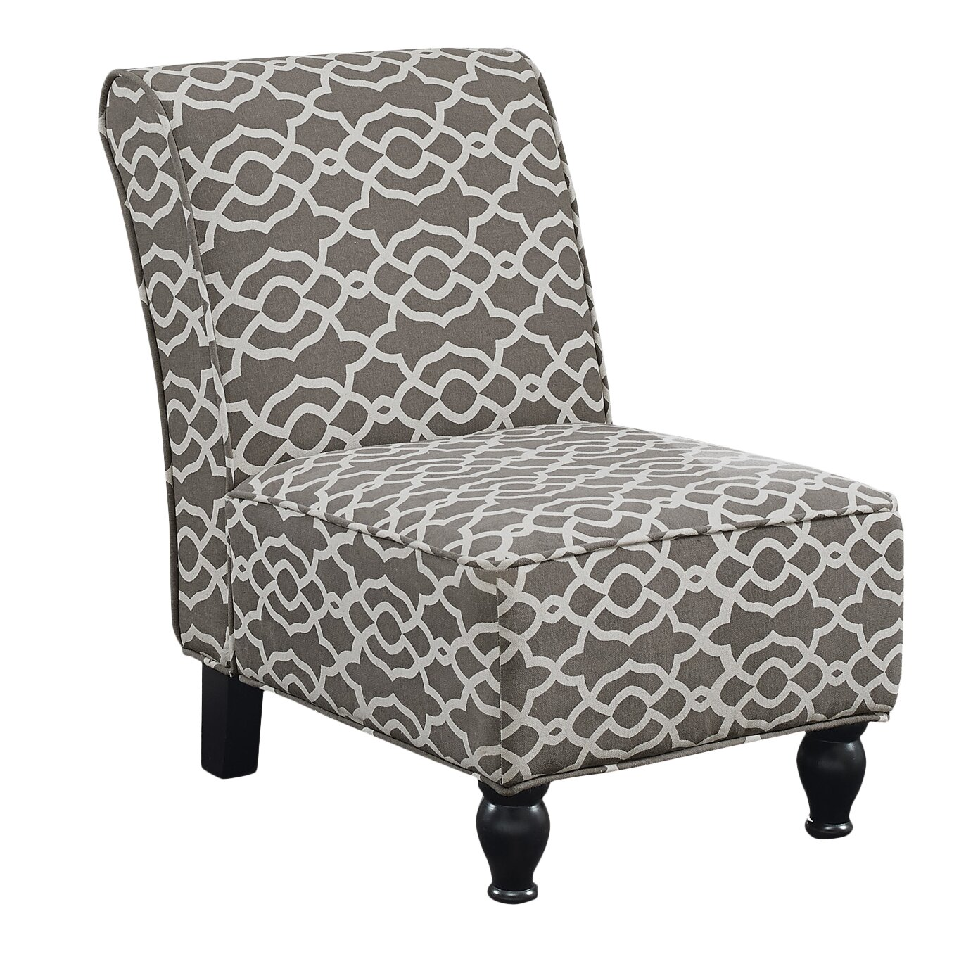 Monarch Specialties Inc I 8058 Fabric Accent Chair: Monarch Specialties Inc. Bell Fabric Traditional Slipper