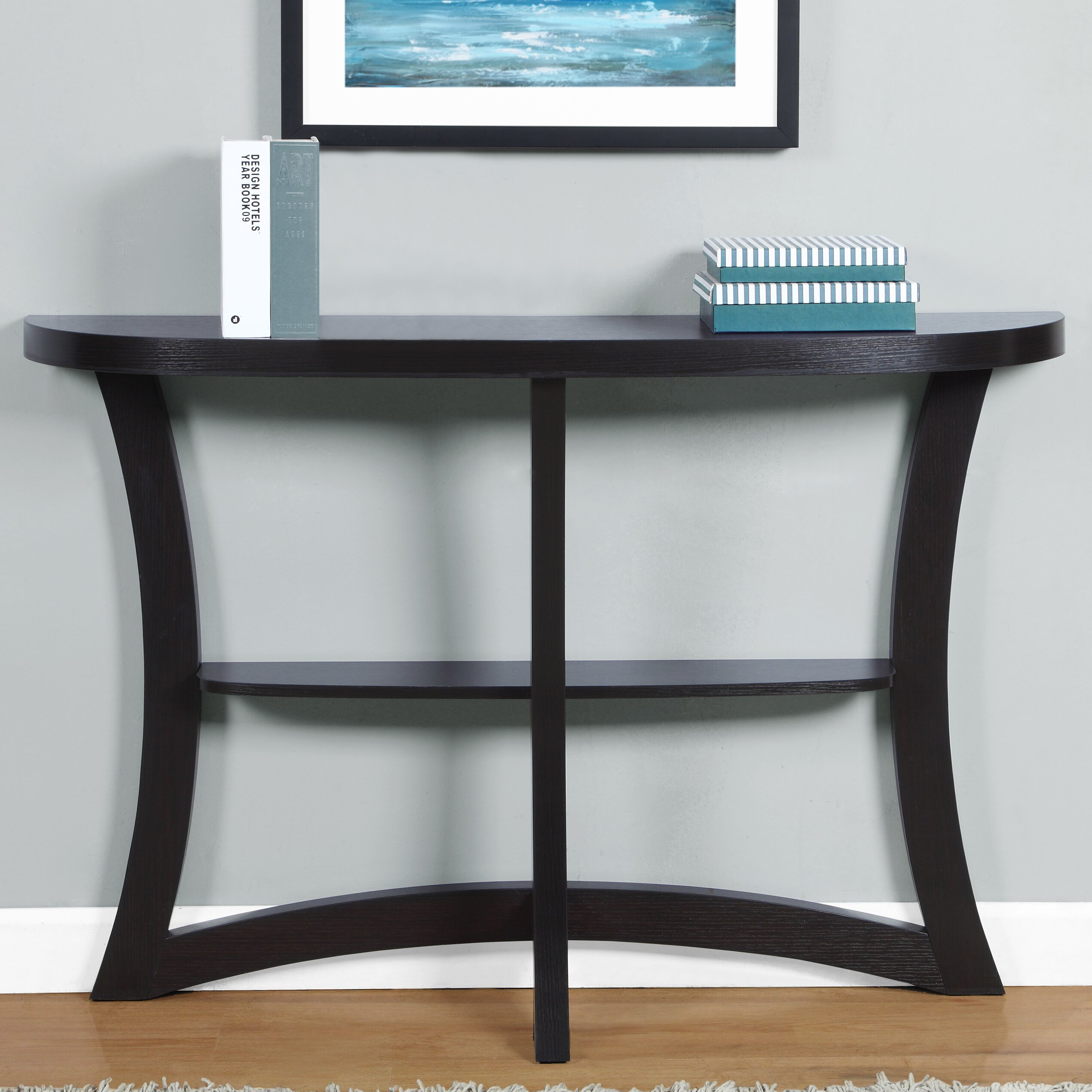 monarch specialties inc console table reviews wayfair. Black Bedroom Furniture Sets. Home Design Ideas