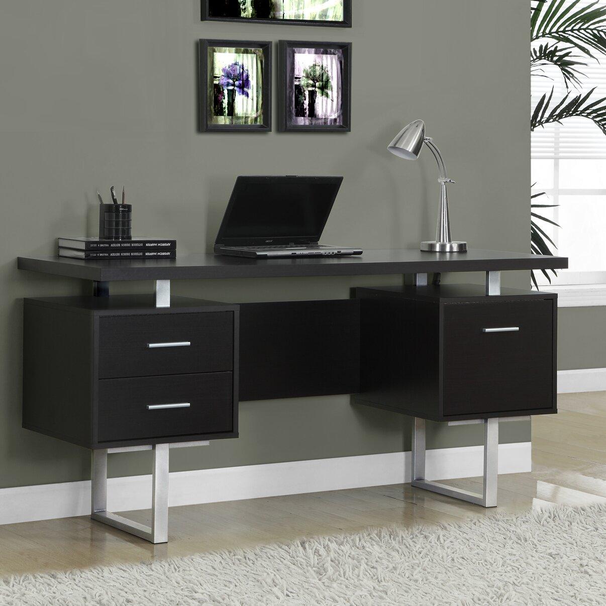 monarch specialties inc computer desk reviews wayfair. Black Bedroom Furniture Sets. Home Design Ideas
