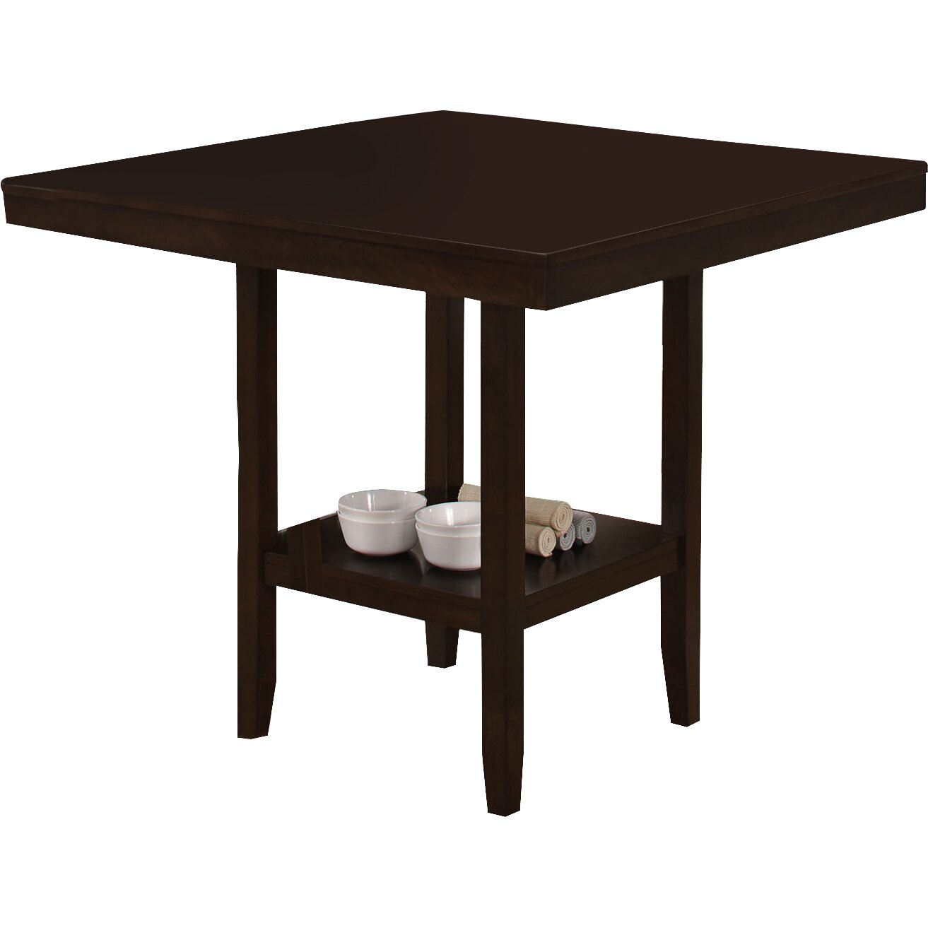 Monarch specialties inc counter height dining table for Counter height dining table
