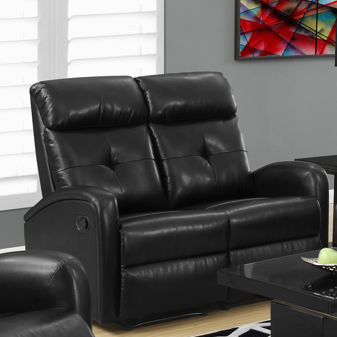 Monarch Specialties Inc. Reclining Loveseat & Reviews