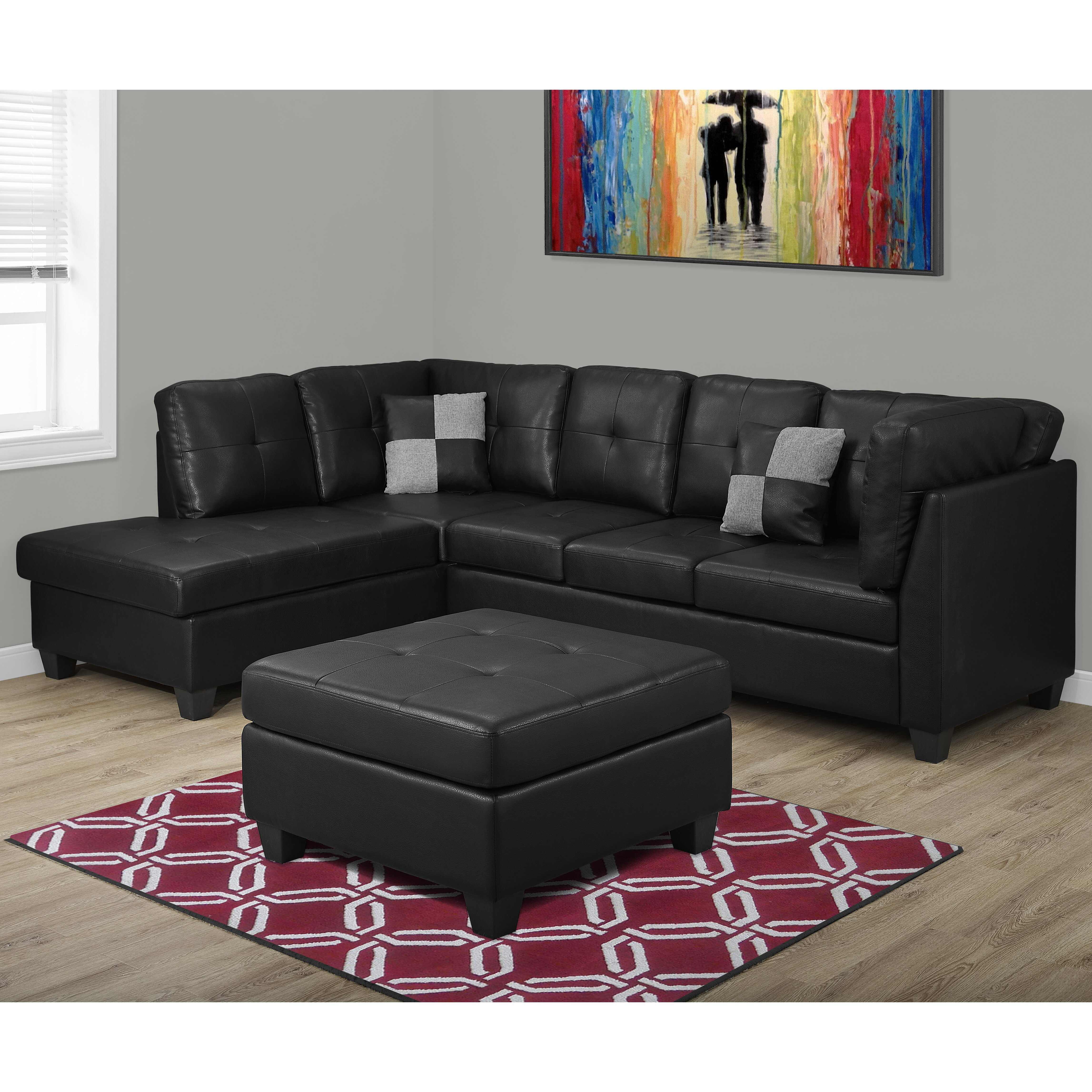 Monarch specialties inc sofa sectional wayfair for Wayfair sectionals