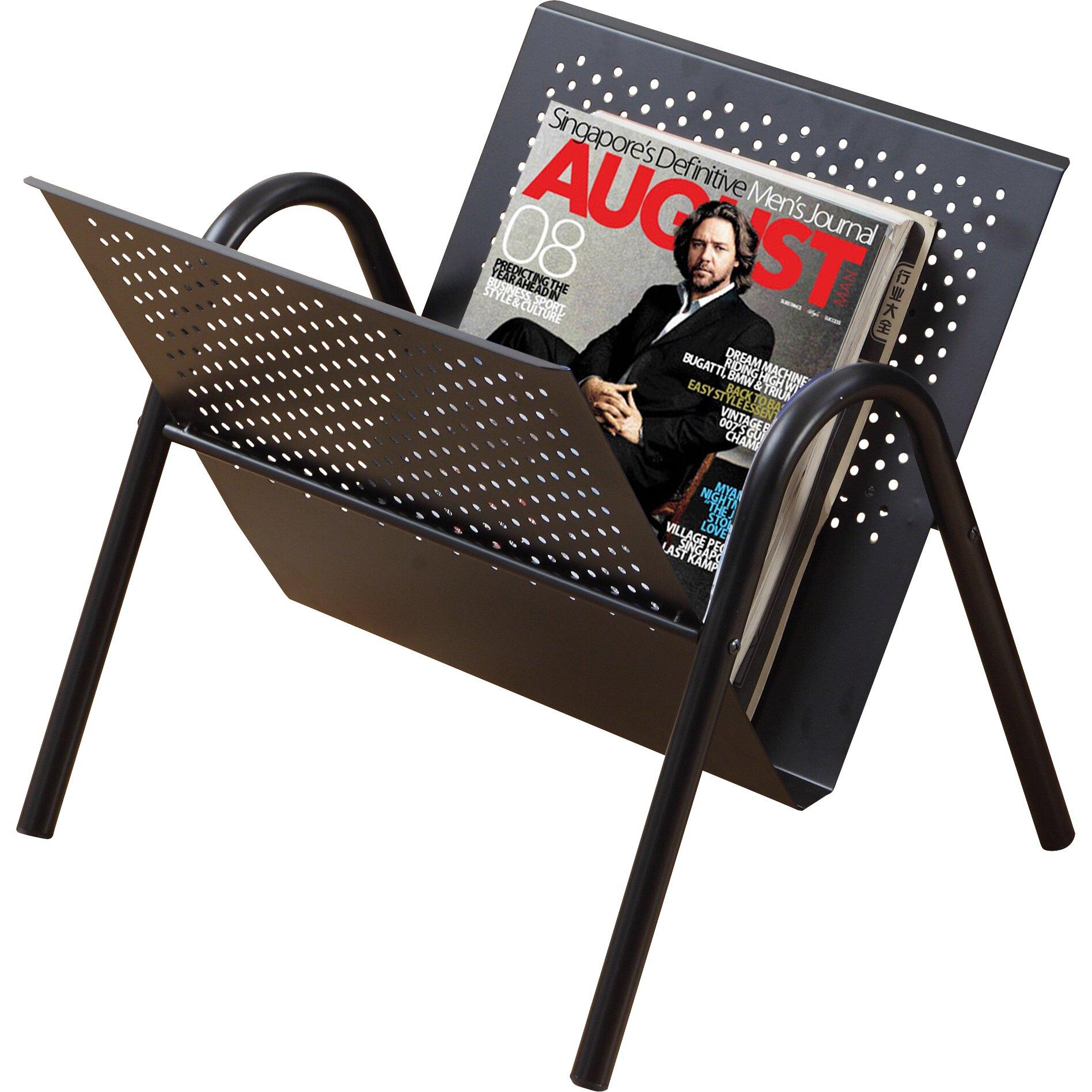 Monarch specialties inc magazine rack reviews wayfair for Magazine racks for home