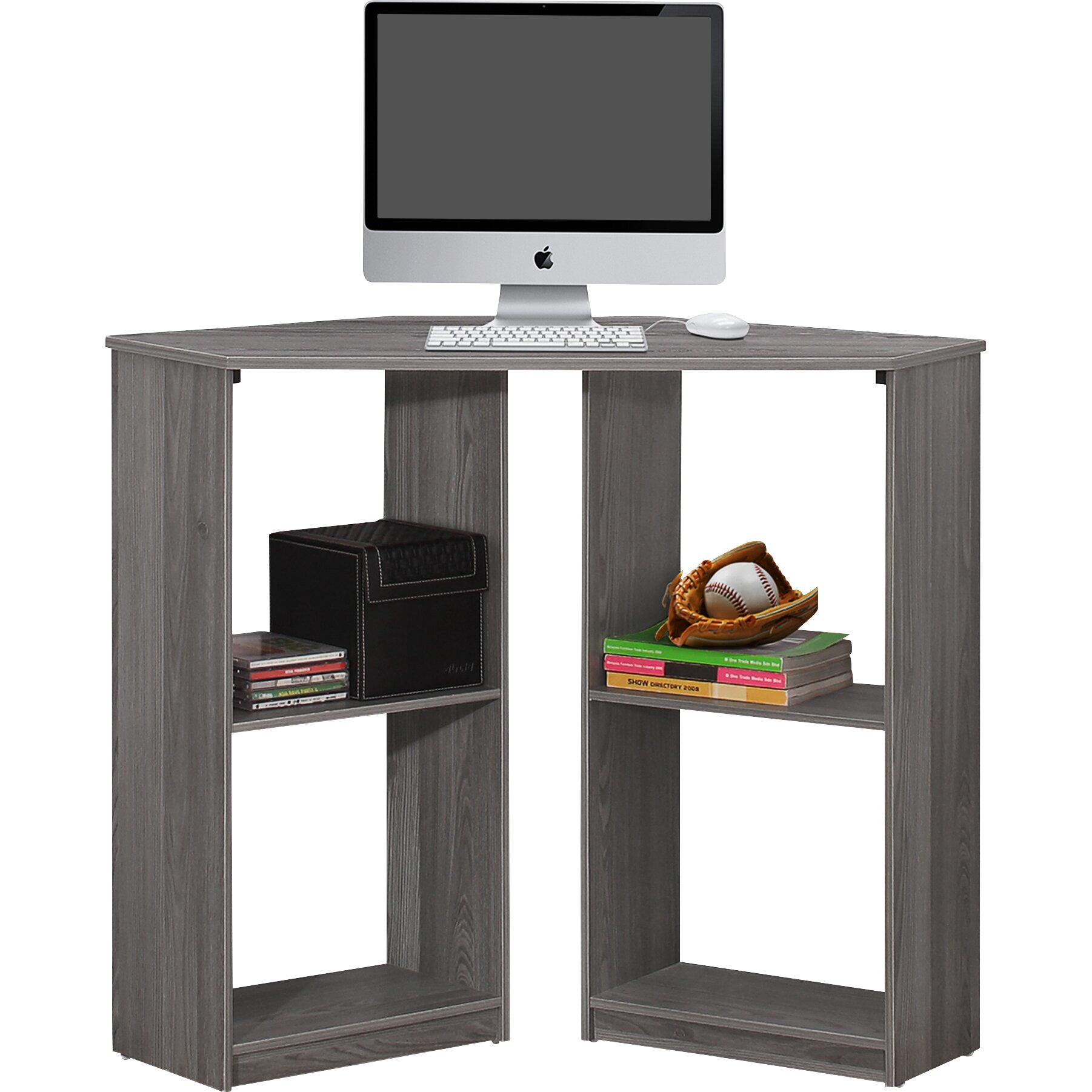 Corner Computer Desk: Monarch Specialties Inc. Corner Computer Desk & Reviews
