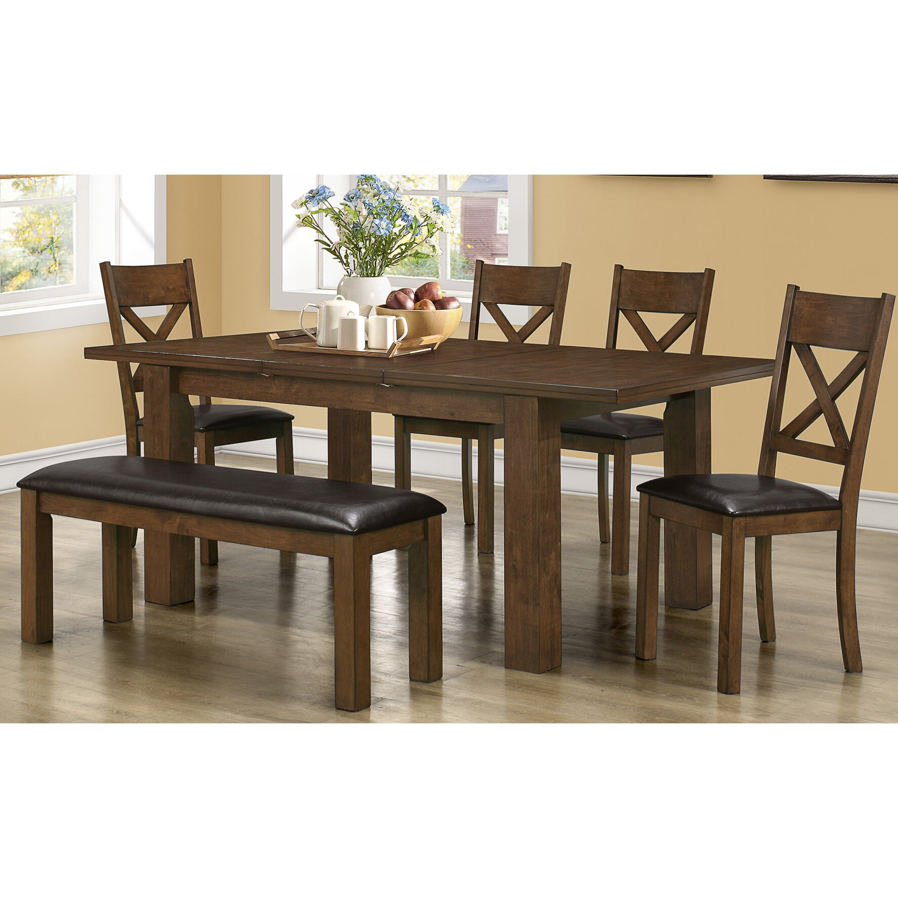 Monarch specialties inc extendible dining table wayfair for Wayfair dining table